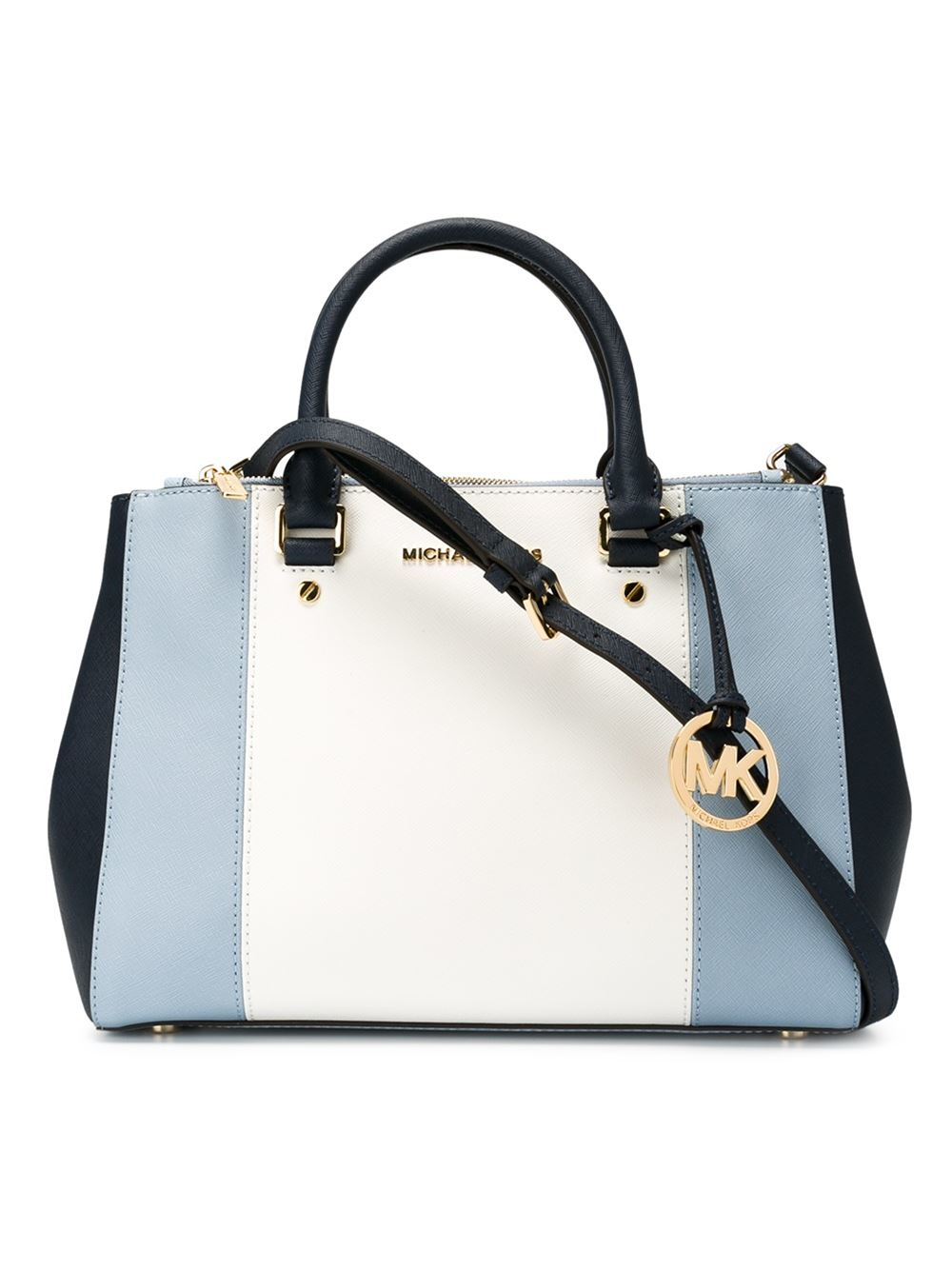 223e9f4f87db MICHAEL Michael Kors Large 'sutton' Colour Block Tote in Blue - Lyst