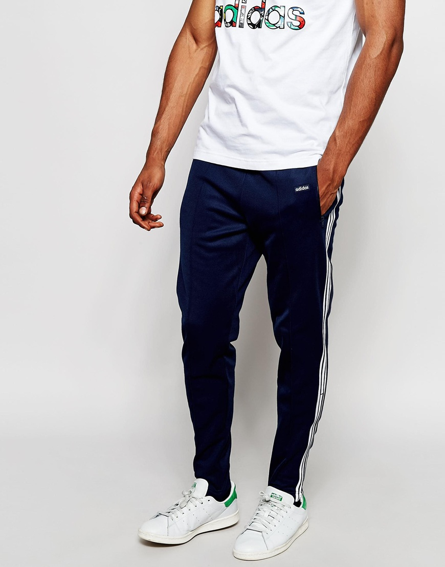 c7696c2e9e332e adidas Originals Beckenbauer Skinny Joggers With Stirrups Ab7764 in ...