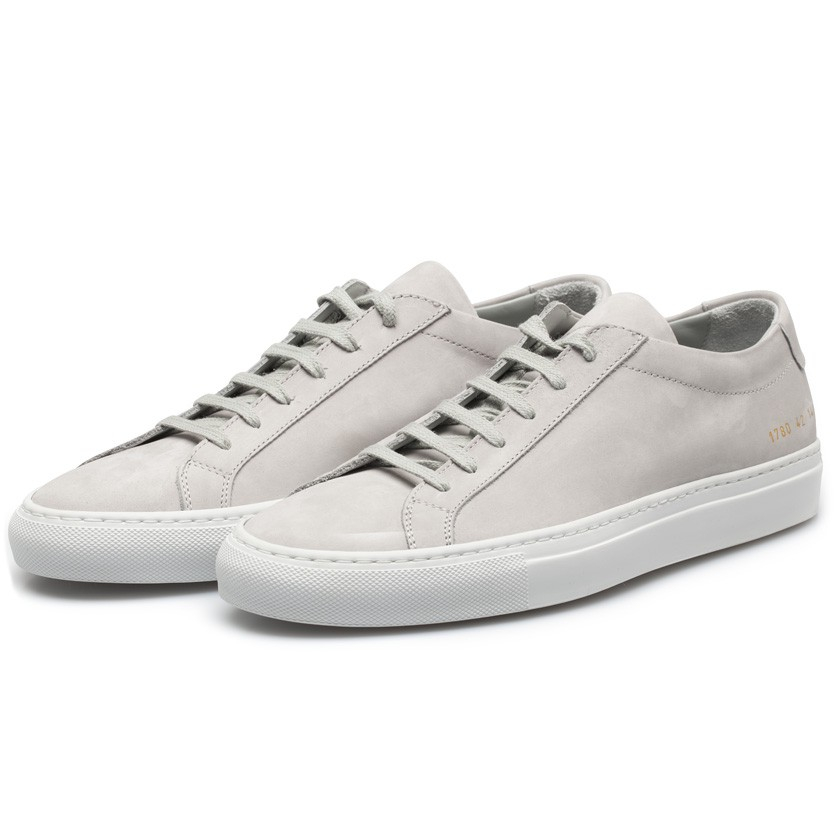 common projects ice grey nubuck leather achilles low sneakers in white for men lyst. Black Bedroom Furniture Sets. Home Design Ideas