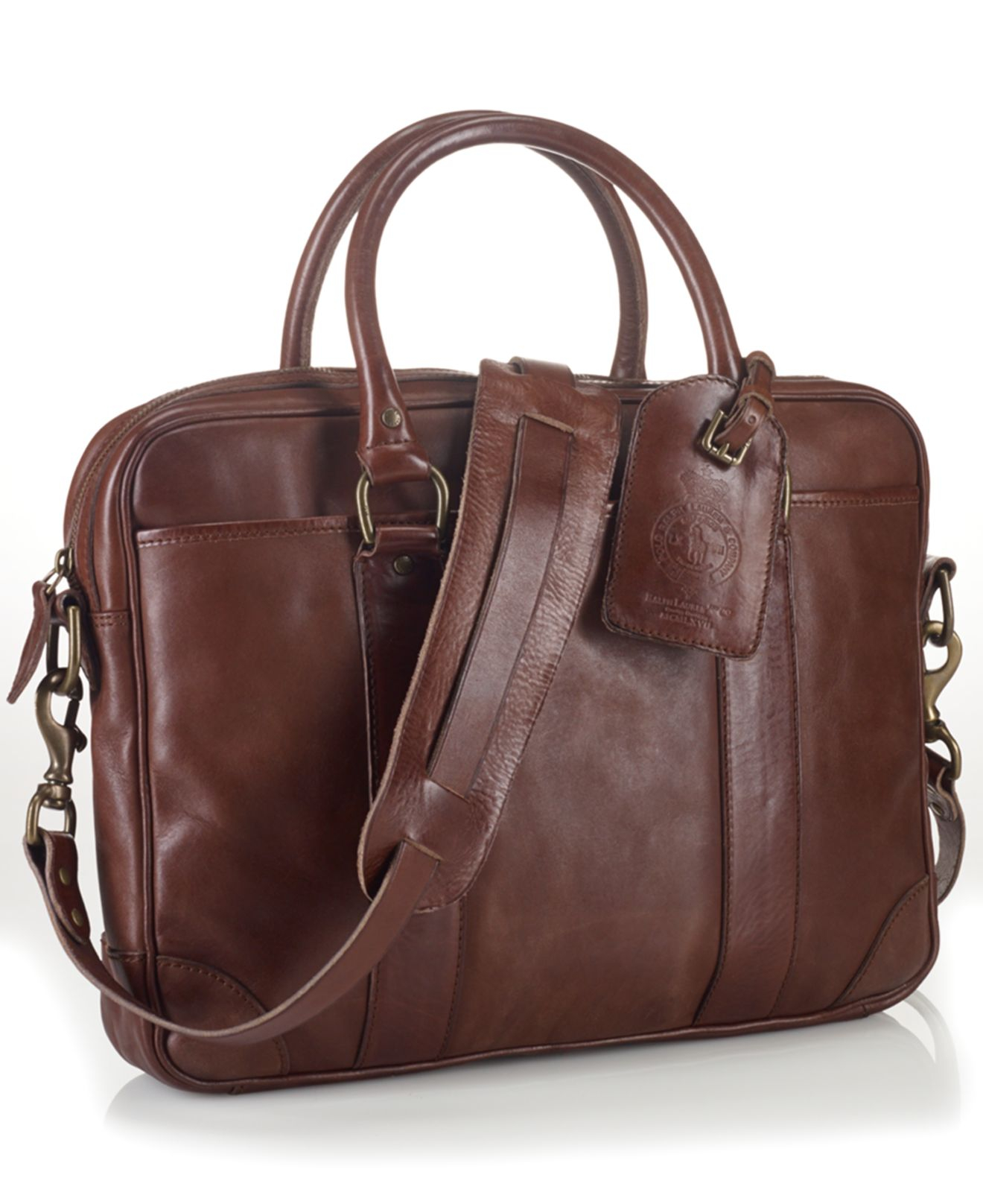 0d6448aacf Lyst - Polo Ralph Lauren Leather Attaché in Brown for Men