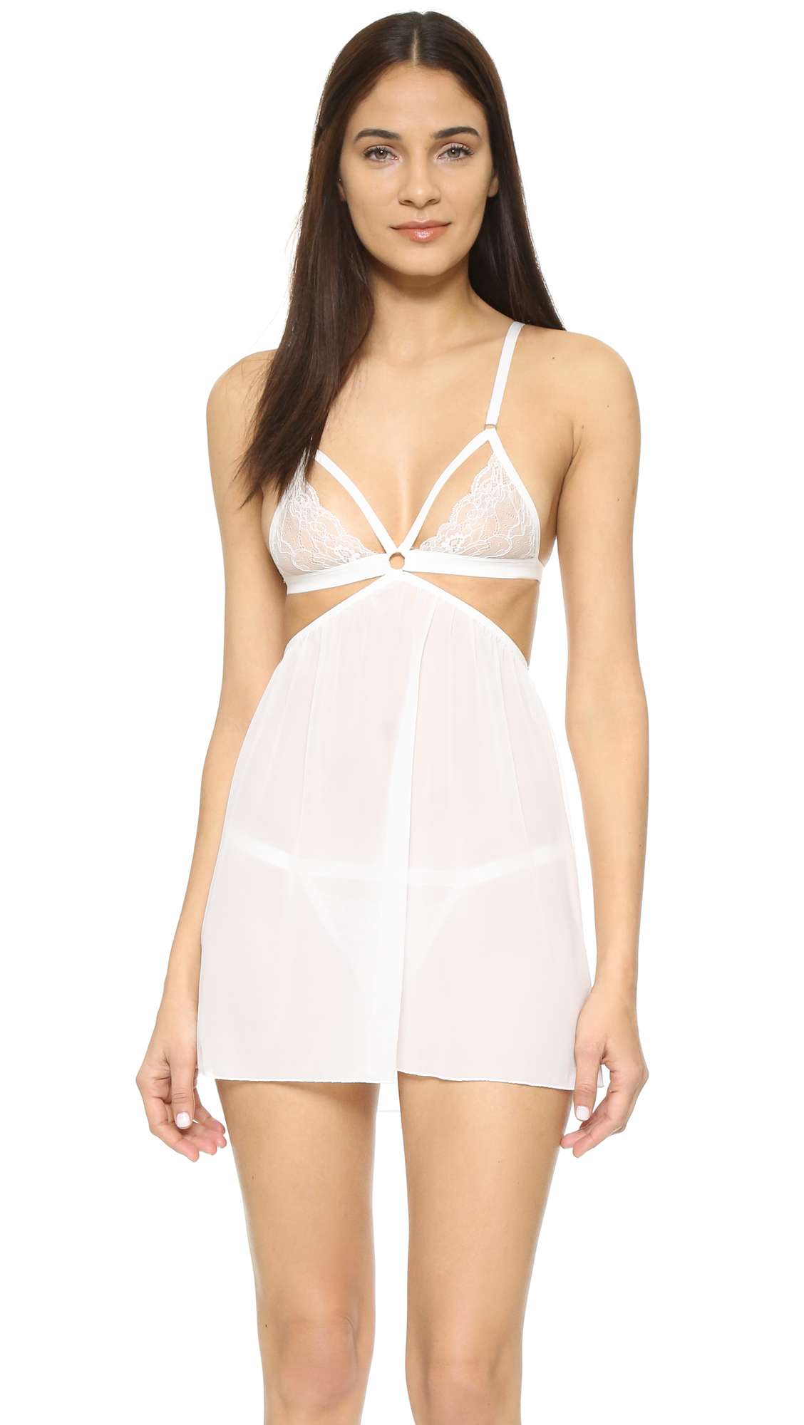Honeydew intimates Lucy Lace Babydoll & G-string Set in ...