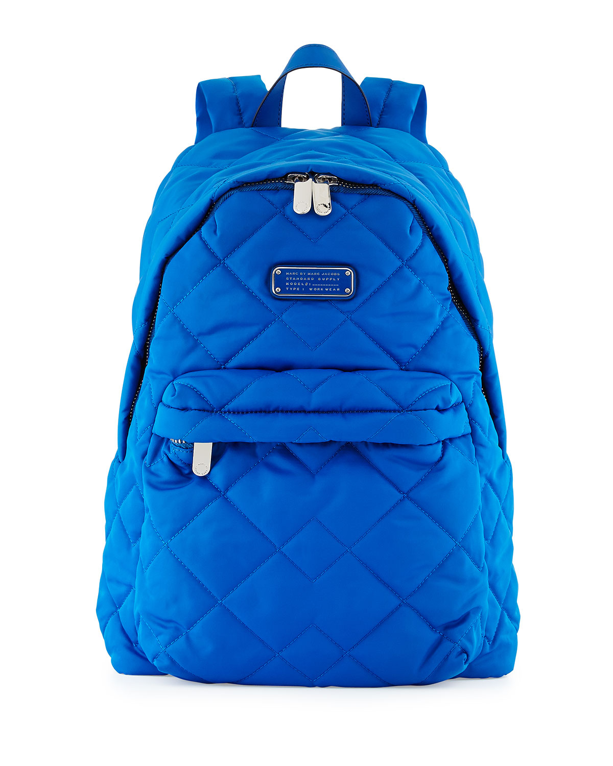 marc by marc jacobs crosby quilted nylon backpack in blue lyst. Black Bedroom Furniture Sets. Home Design Ideas