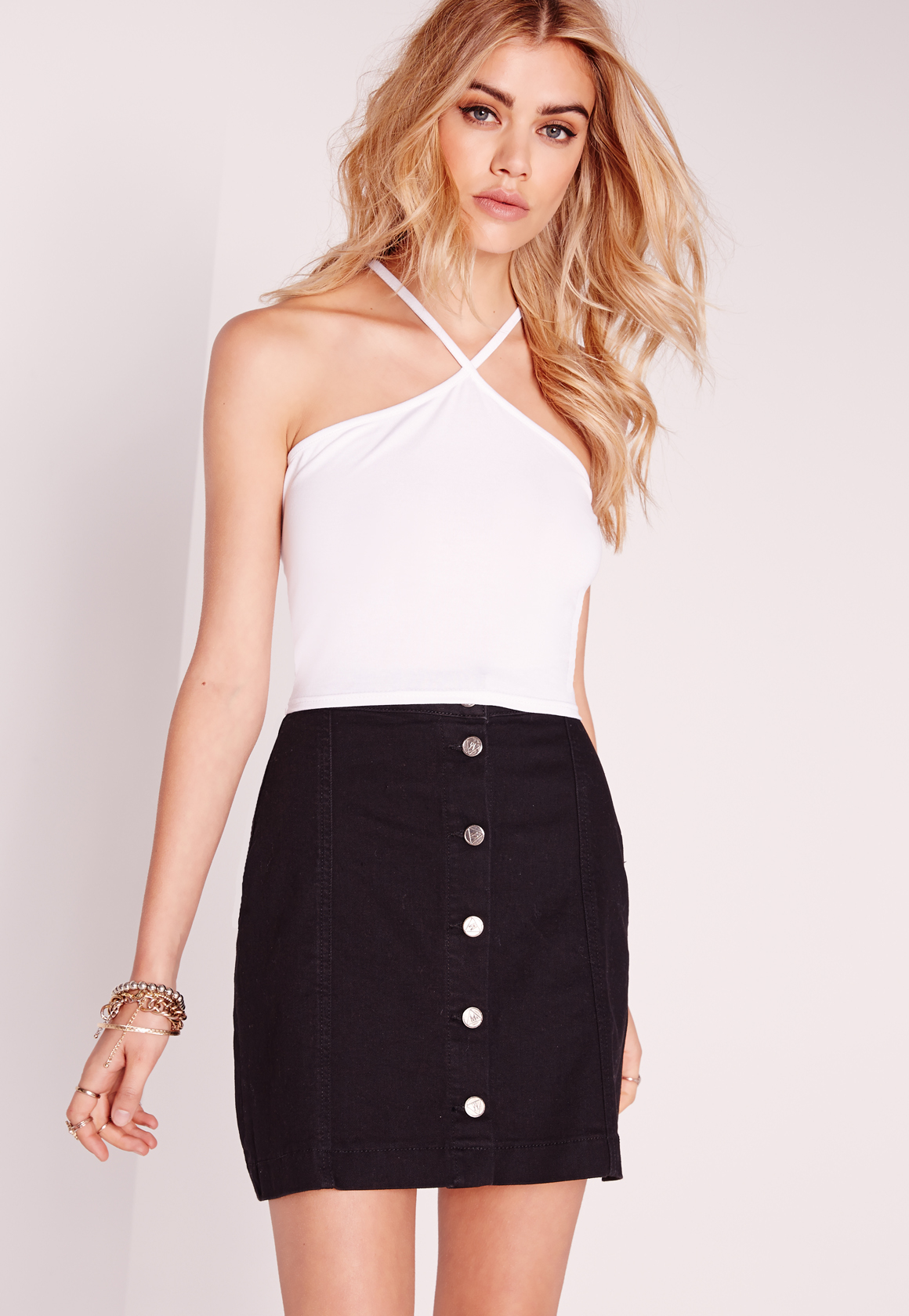 8eee8305ad Lyst - Missguided Triangle Lace Back Crop Top White in White