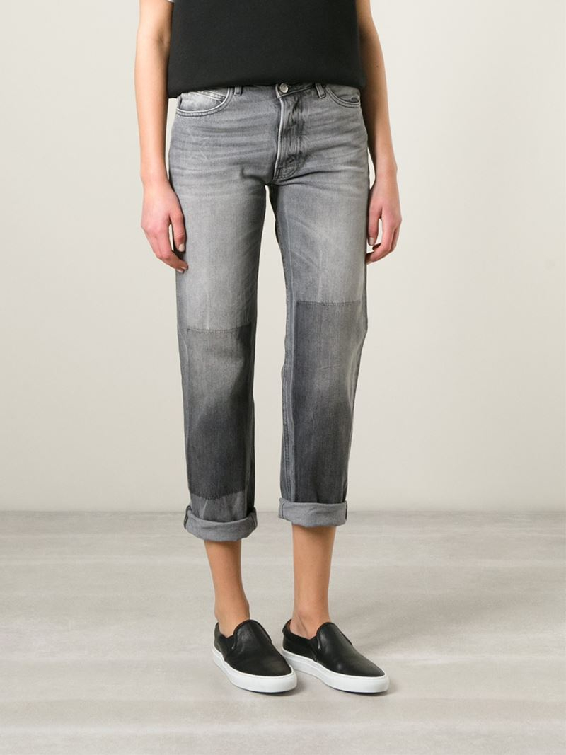 Golden goose deluxe brand 'karly' Boyfriend Jeans in Gray | Lyst