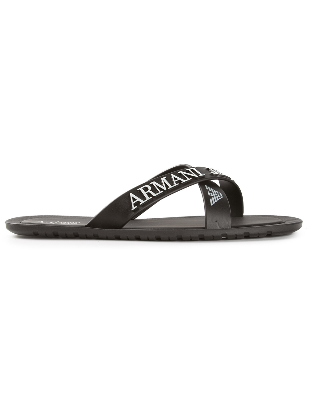 524d08a46460 Lyst - Armani Jeans Crossover Sandals in Black for Men