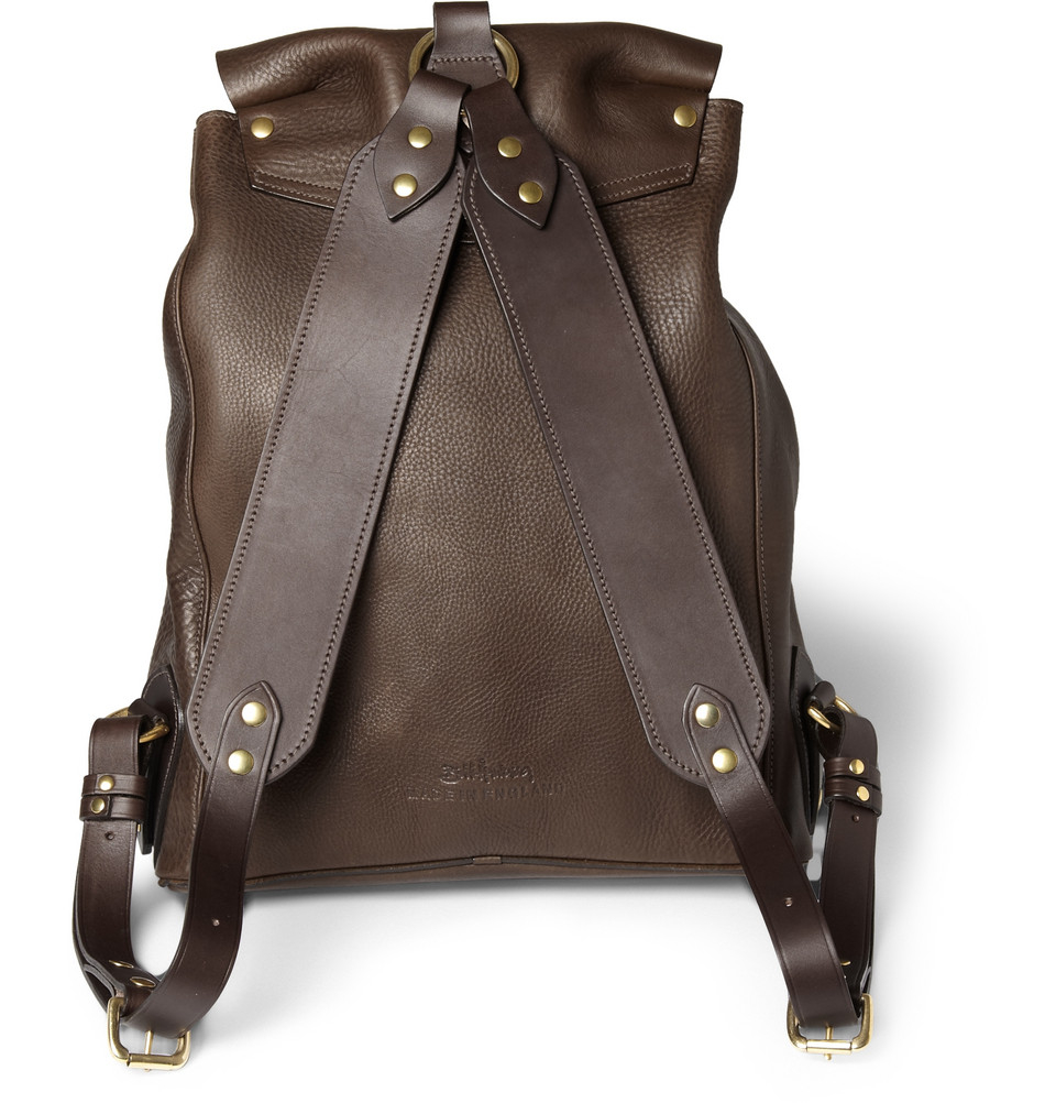 Lyst - Bill amberg Hunter Full Grain Leather Backpack in Brown for Men