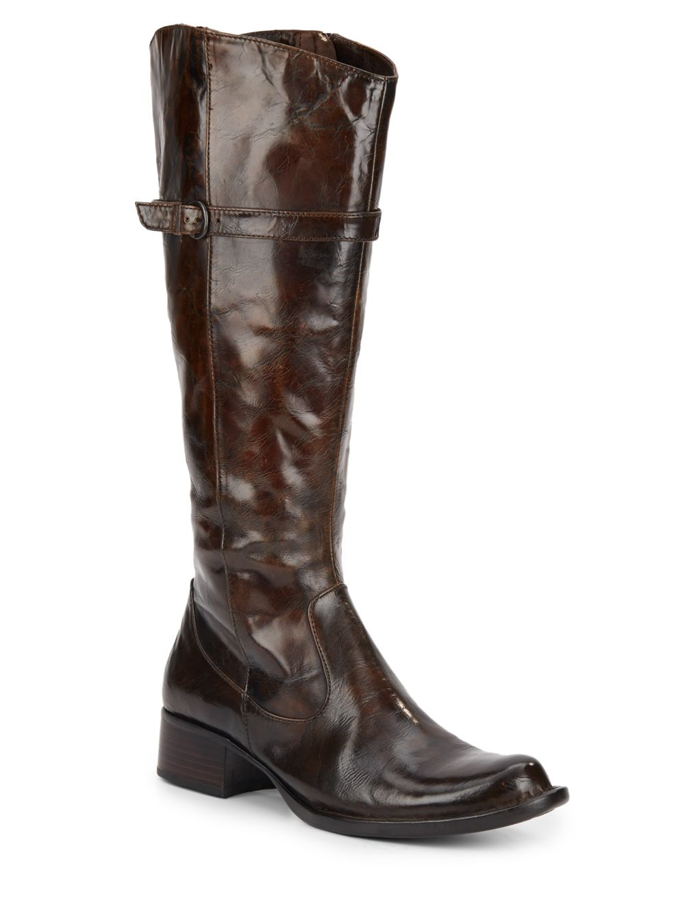 born wylla leather boots in brown lyst