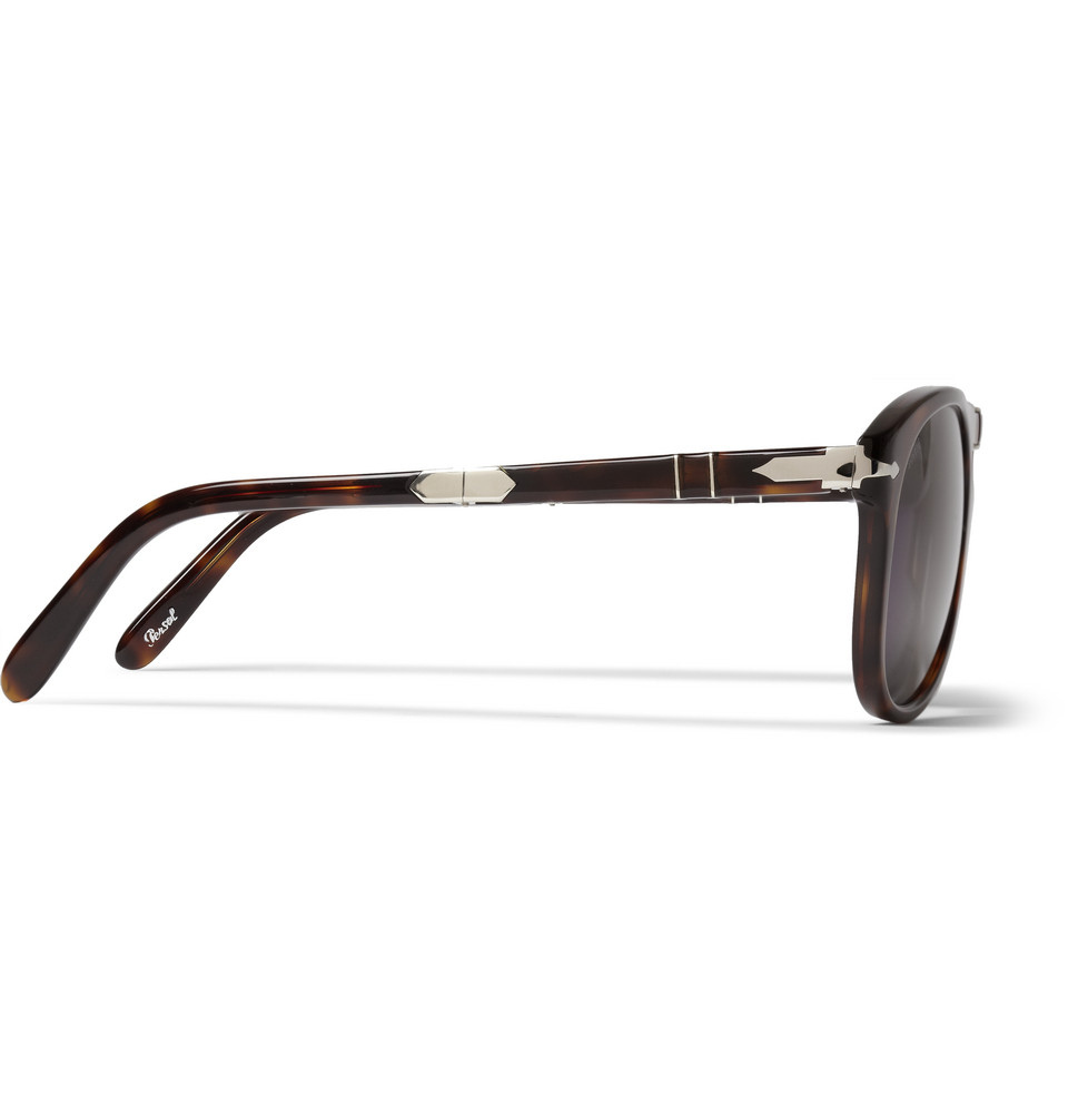 77d1a65587 Lyst - Persol Steve McQueen Folding Acetate Polarised Sunglasses in ...