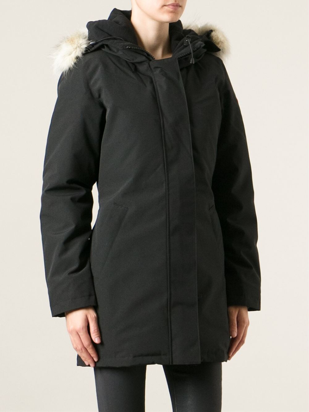 canada goose 39 victoria 39 parka in black lyst. Black Bedroom Furniture Sets. Home Design Ideas
