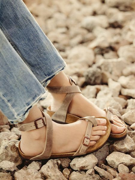 Free People Yara Suede Sandals In Brown Tobacco Lyst
