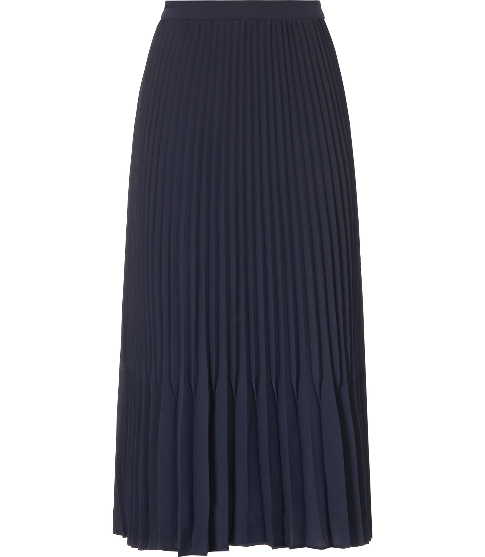 reiss baltimore pleated midi skirt in blue navy lyst