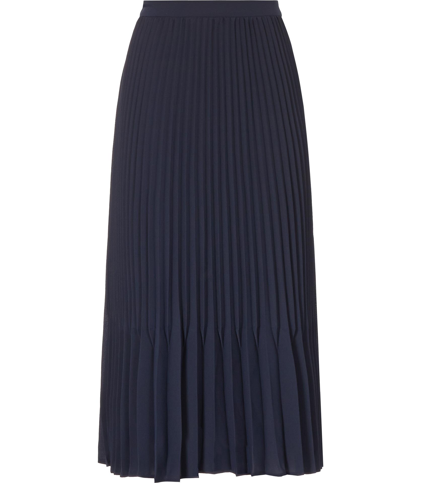 Reiss Baltimore Pleated Midi Skirt in Blue | Lyst