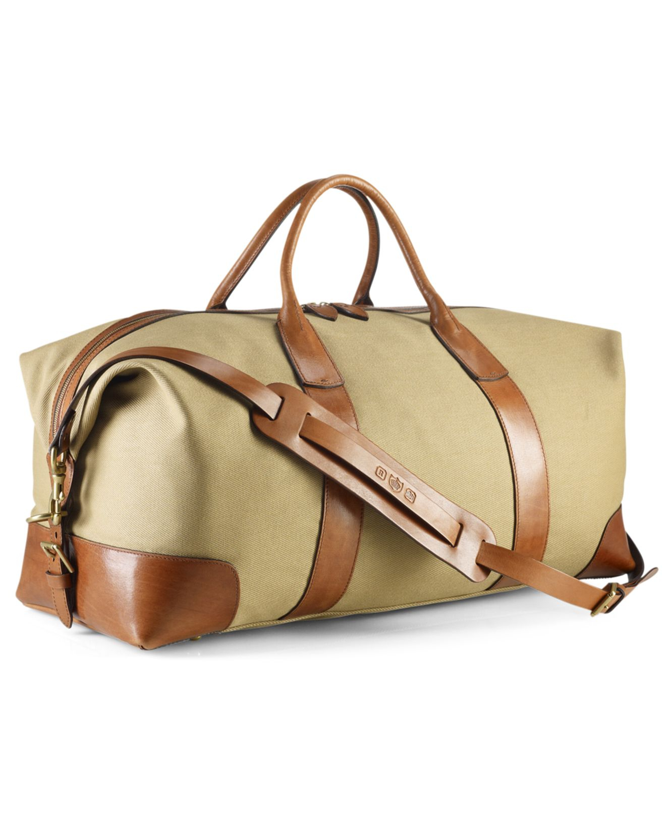 Lyst - Polo Ralph Lauren Core Canvas Duffle Bag in Natural for Men 4258466ede772