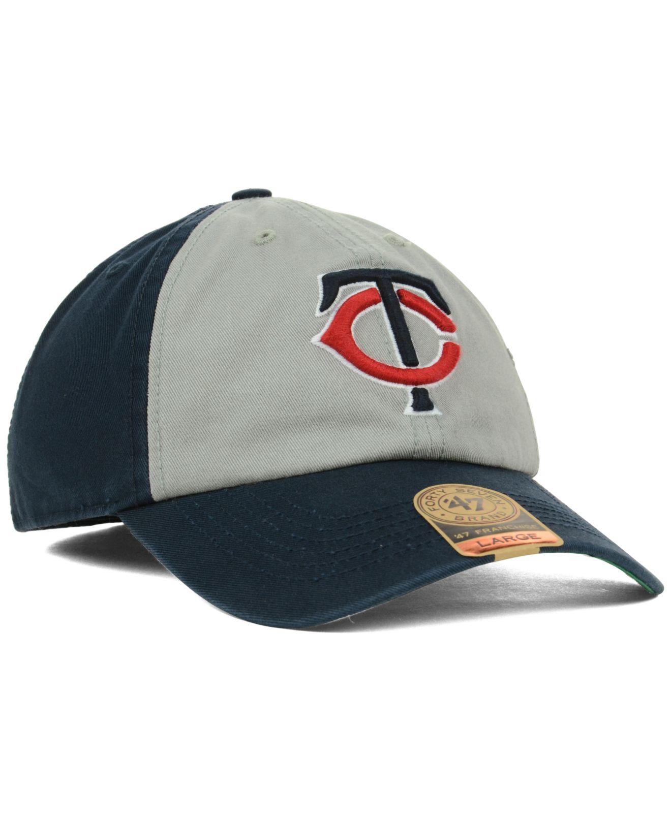 lyst 47 brand minnesota twins vip franchise cap in gray for men