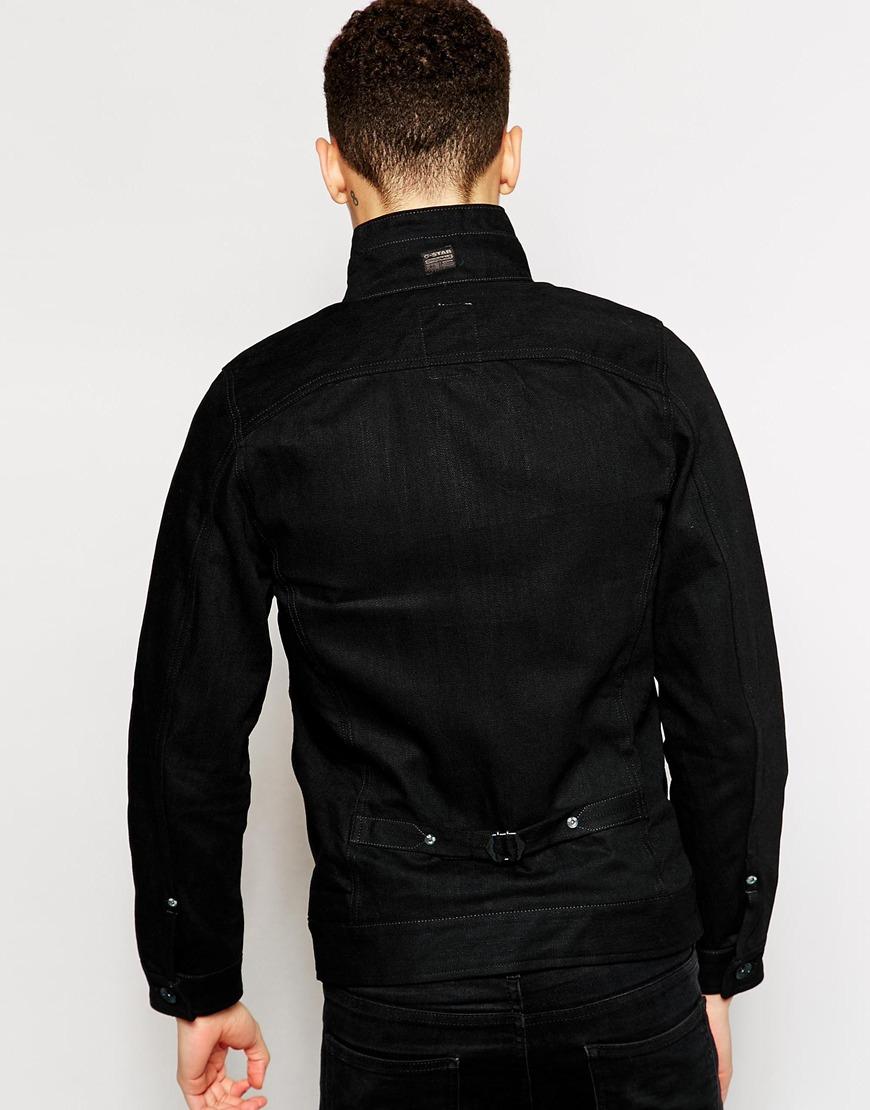 g star raw g star denim jacket arc zip slim 3d black 3d. Black Bedroom Furniture Sets. Home Design Ideas