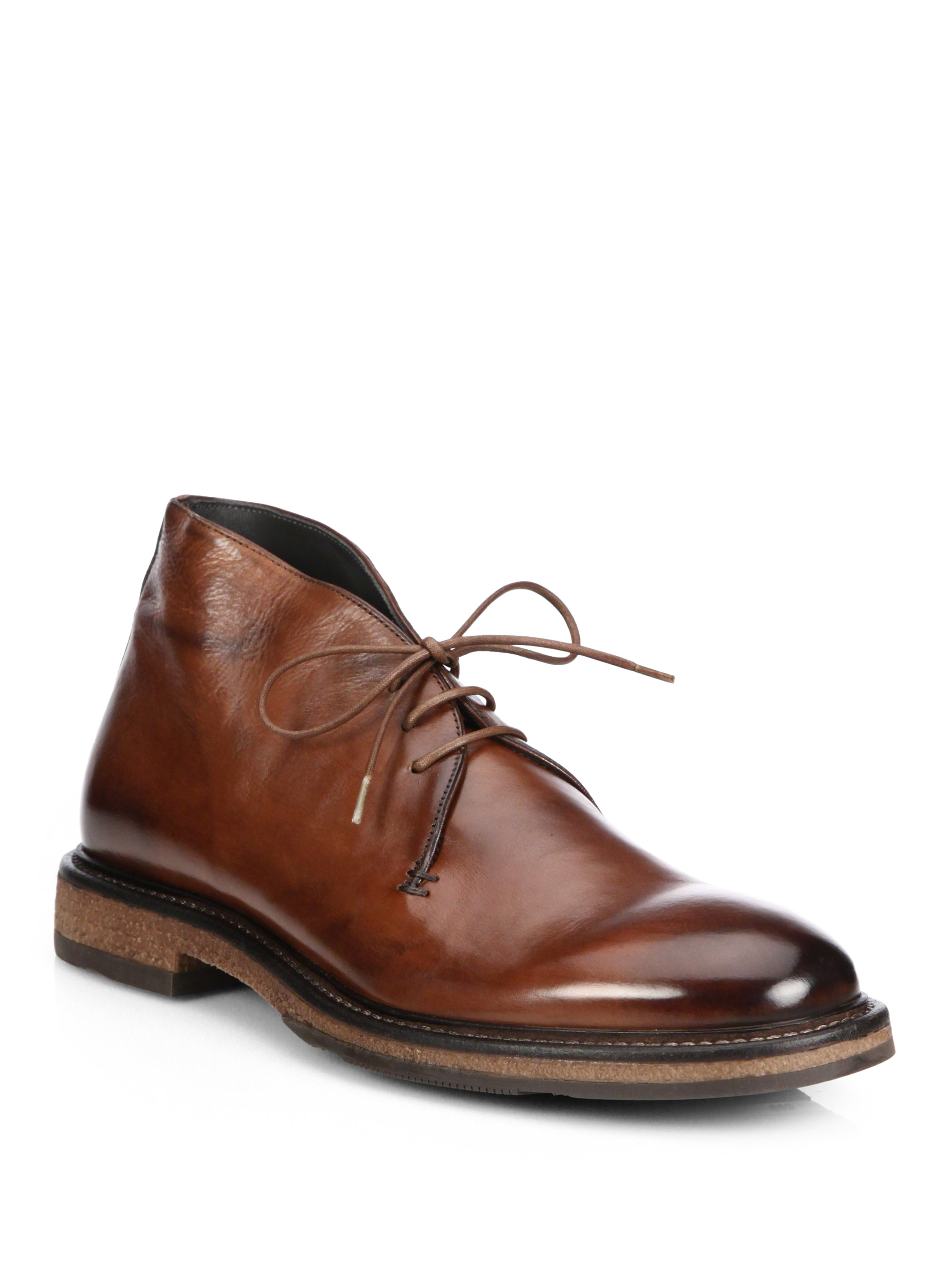 to boot cornell leather chukka boots in brown for lyst