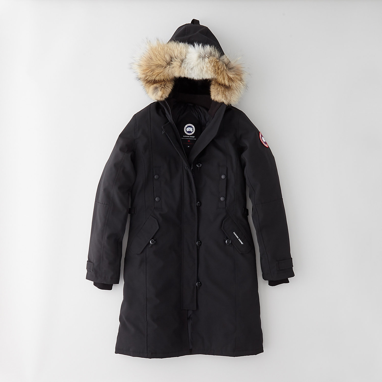 Canada goose Black Down & Fur Langford Parka in Black | Lyst