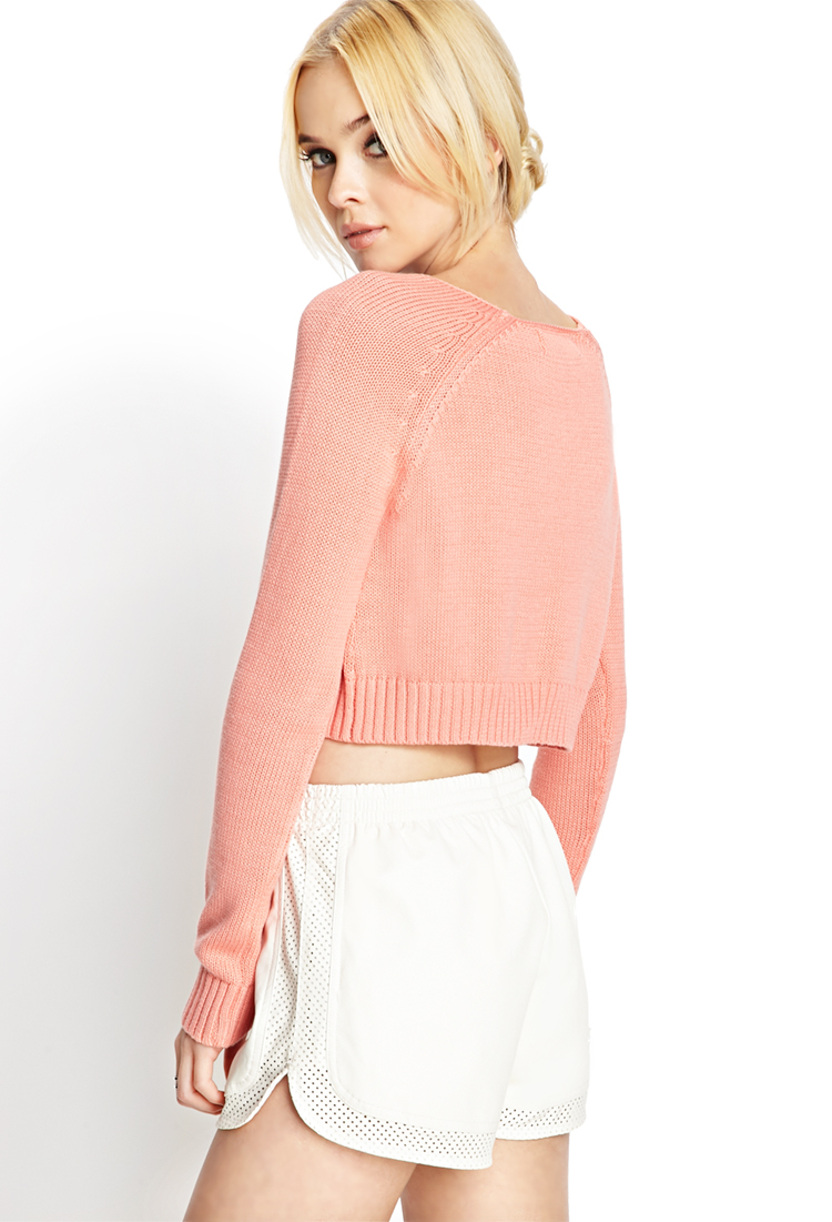 Forever 21 Classic Cropped Sweater in Pink   Lyst