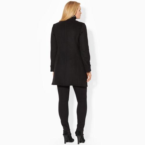 Lyst Lauren By Ralph Lauren Woolblend Mockneck Coat In Black
