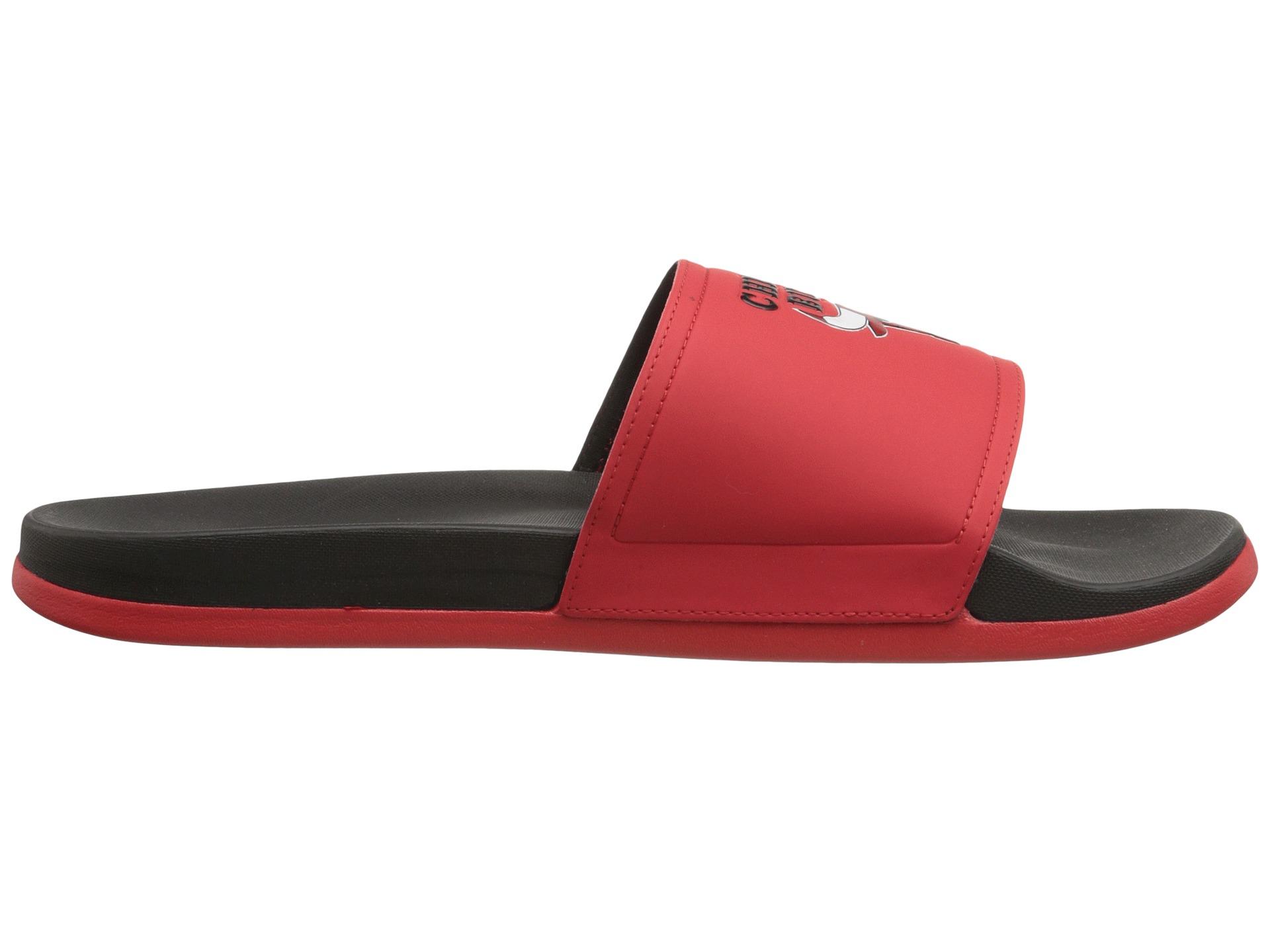 9b93fbca913c Lyst - adidas Adilette - Chicago Bulls in Red for Men