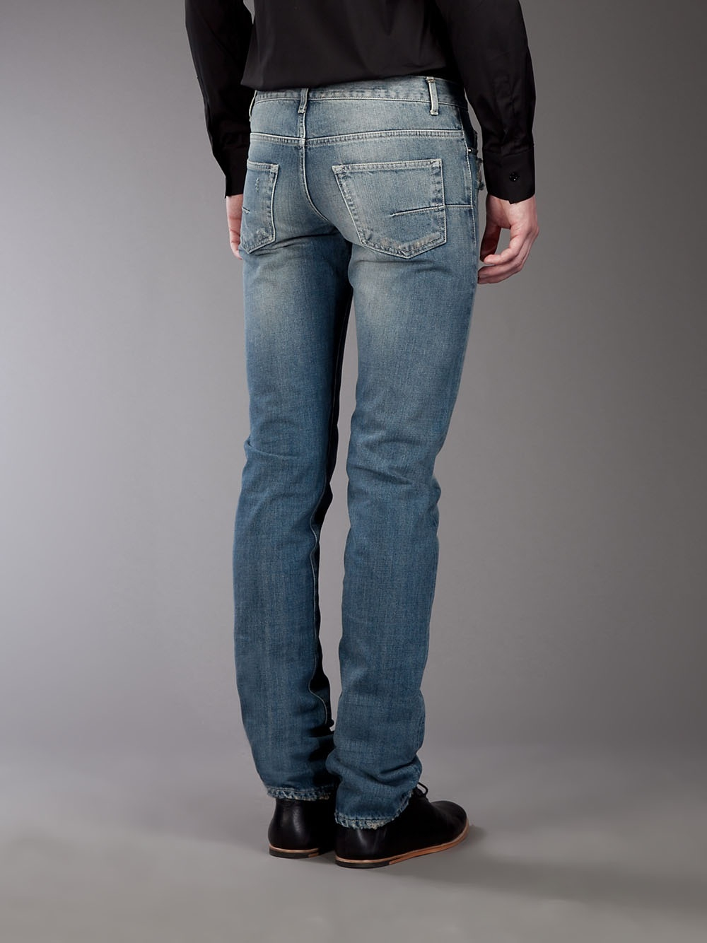 Lyst - Dior Homme Worn Effect Jeans in Blue for Men - photo#27