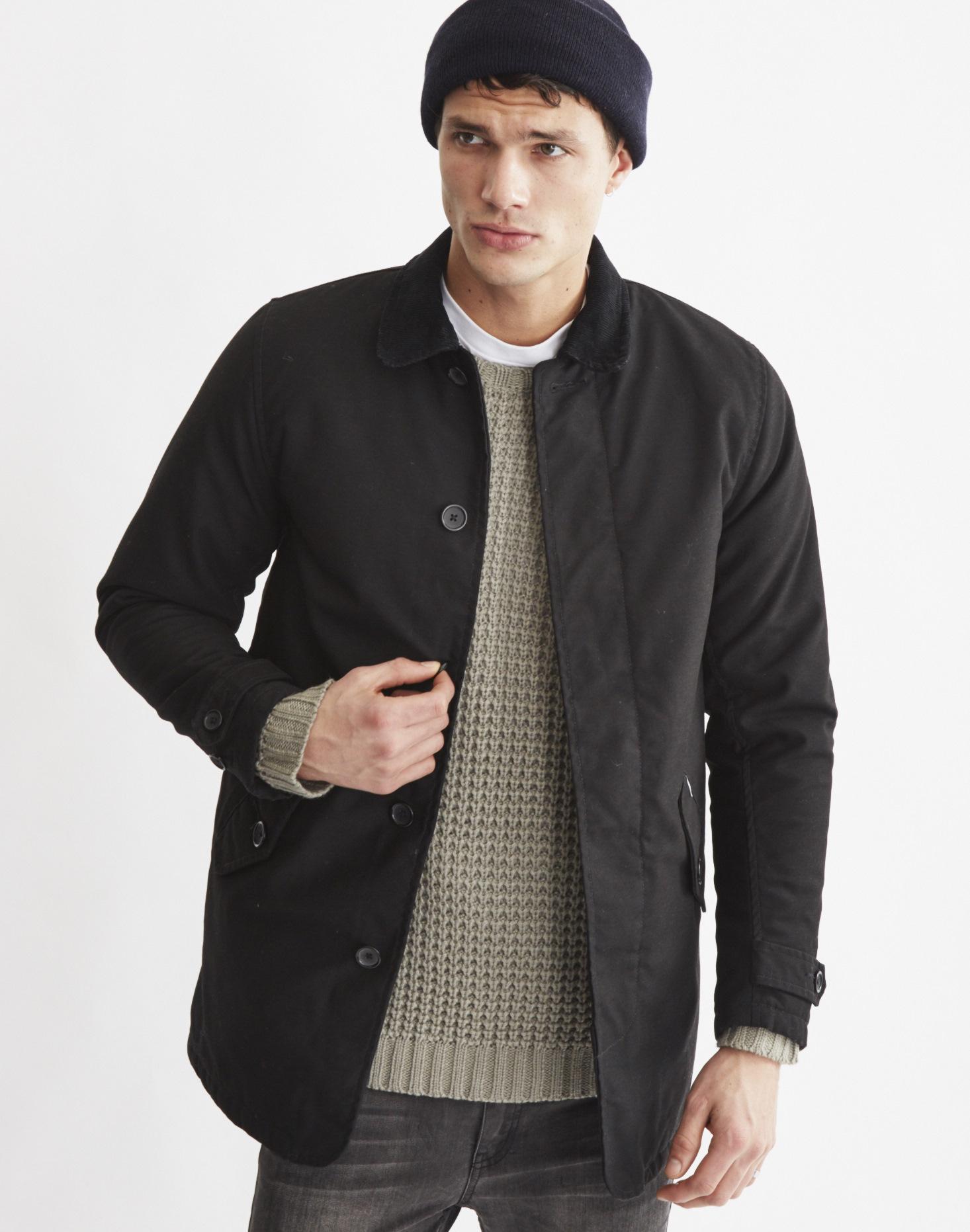 Lyst Carhartt Wip Harris Trench Coat Black In Black For Men