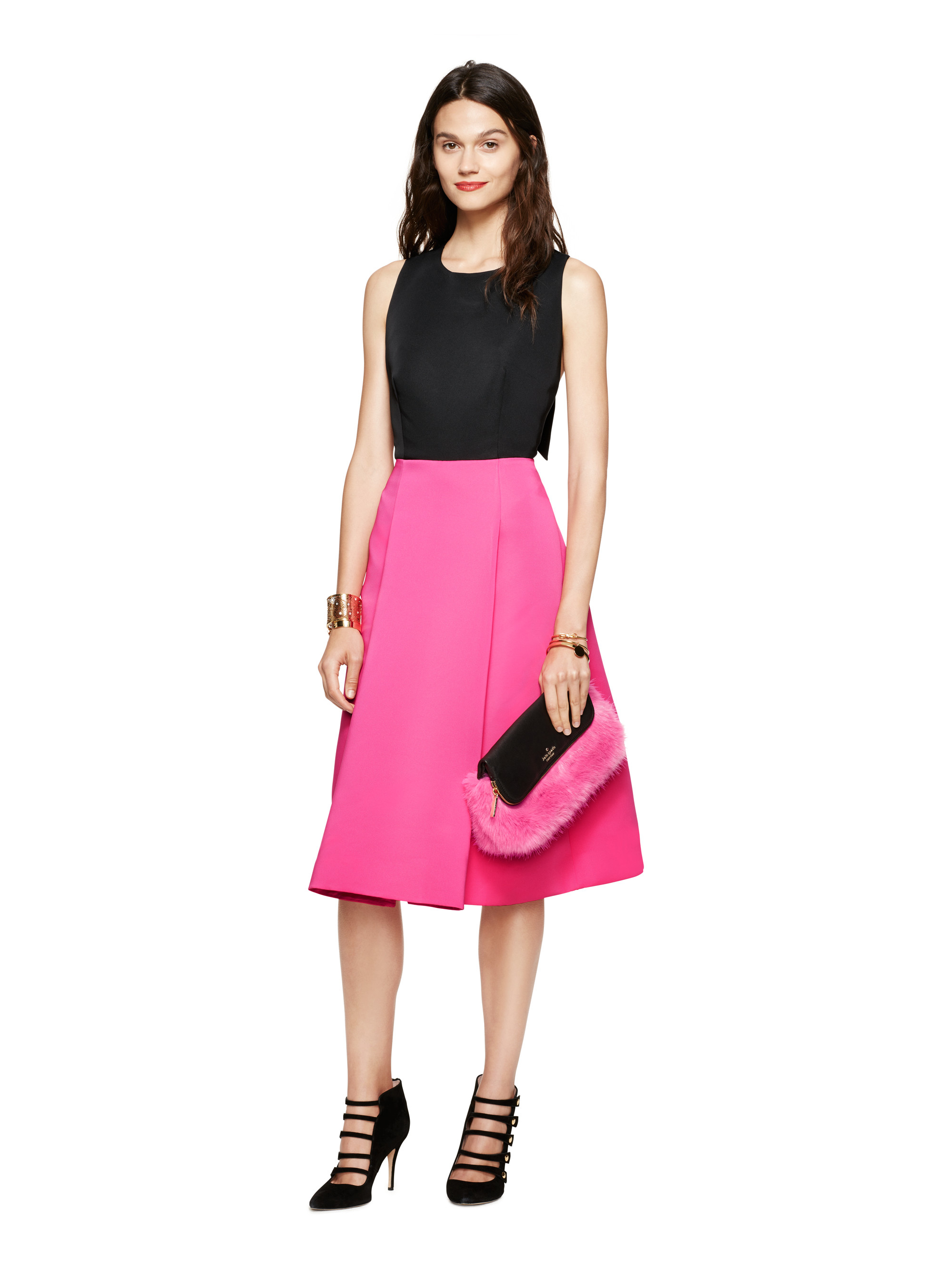 Kate Spade New York Colorblock Bow Back Dress In Purple Lyst