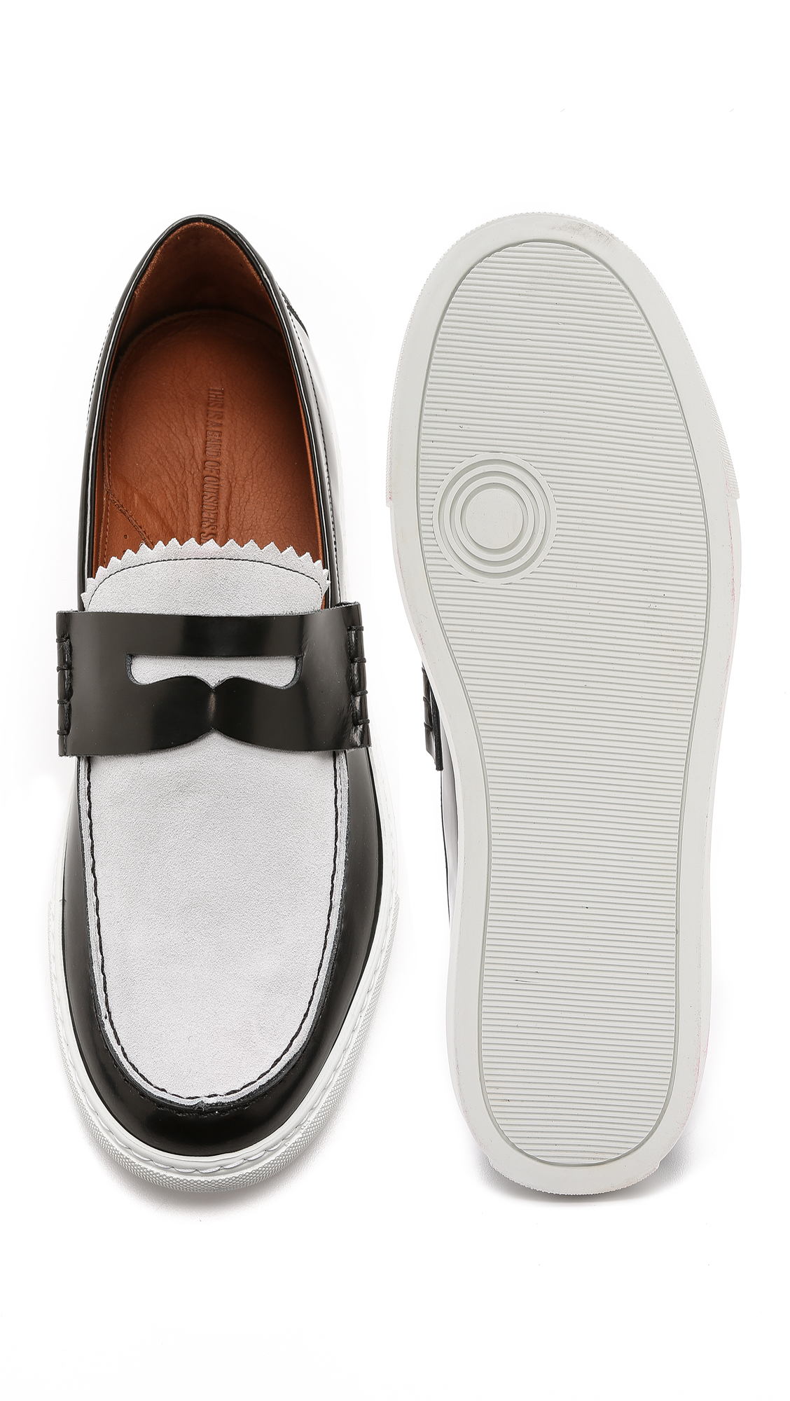 band of outsiders loafer sneakers in black for