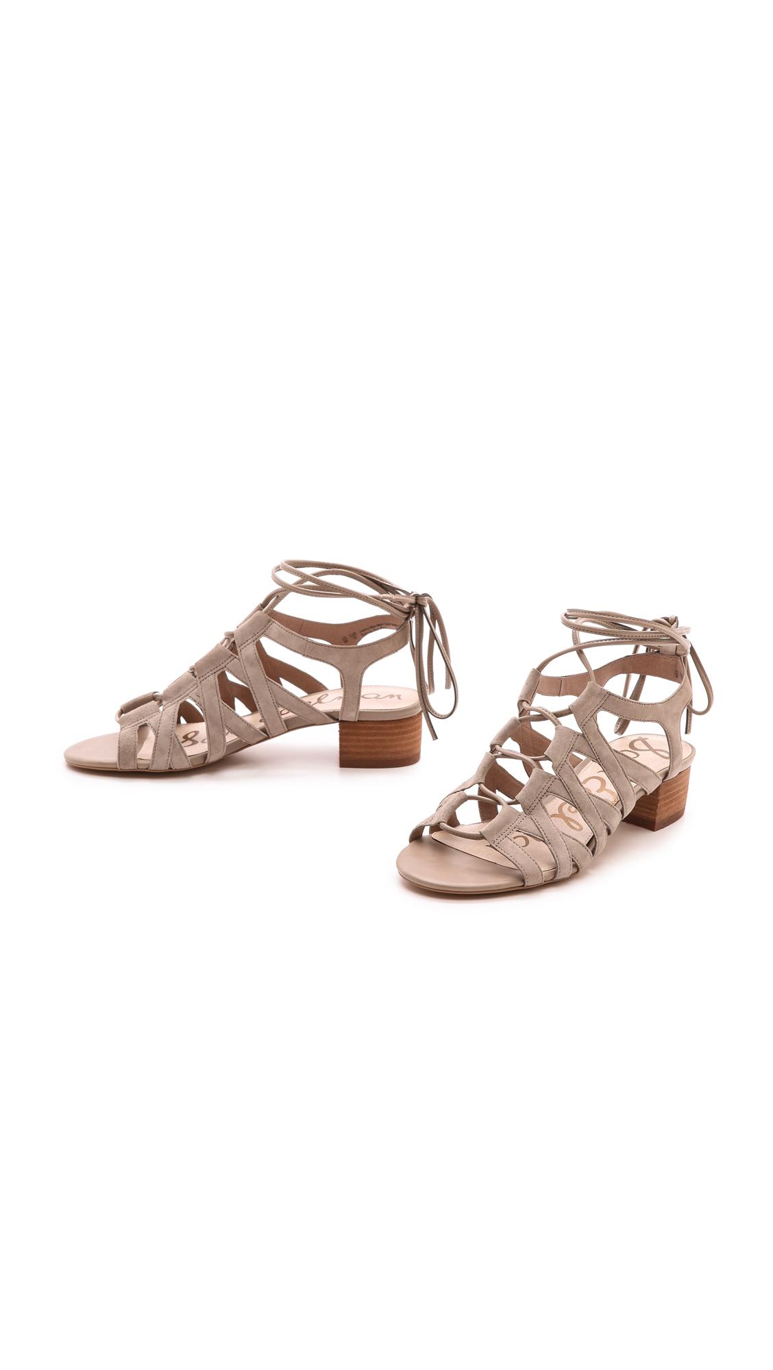 d57bd0fa0235 Sam Edelman Ardella Low Heel Sandals Putty in Natural - Lyst