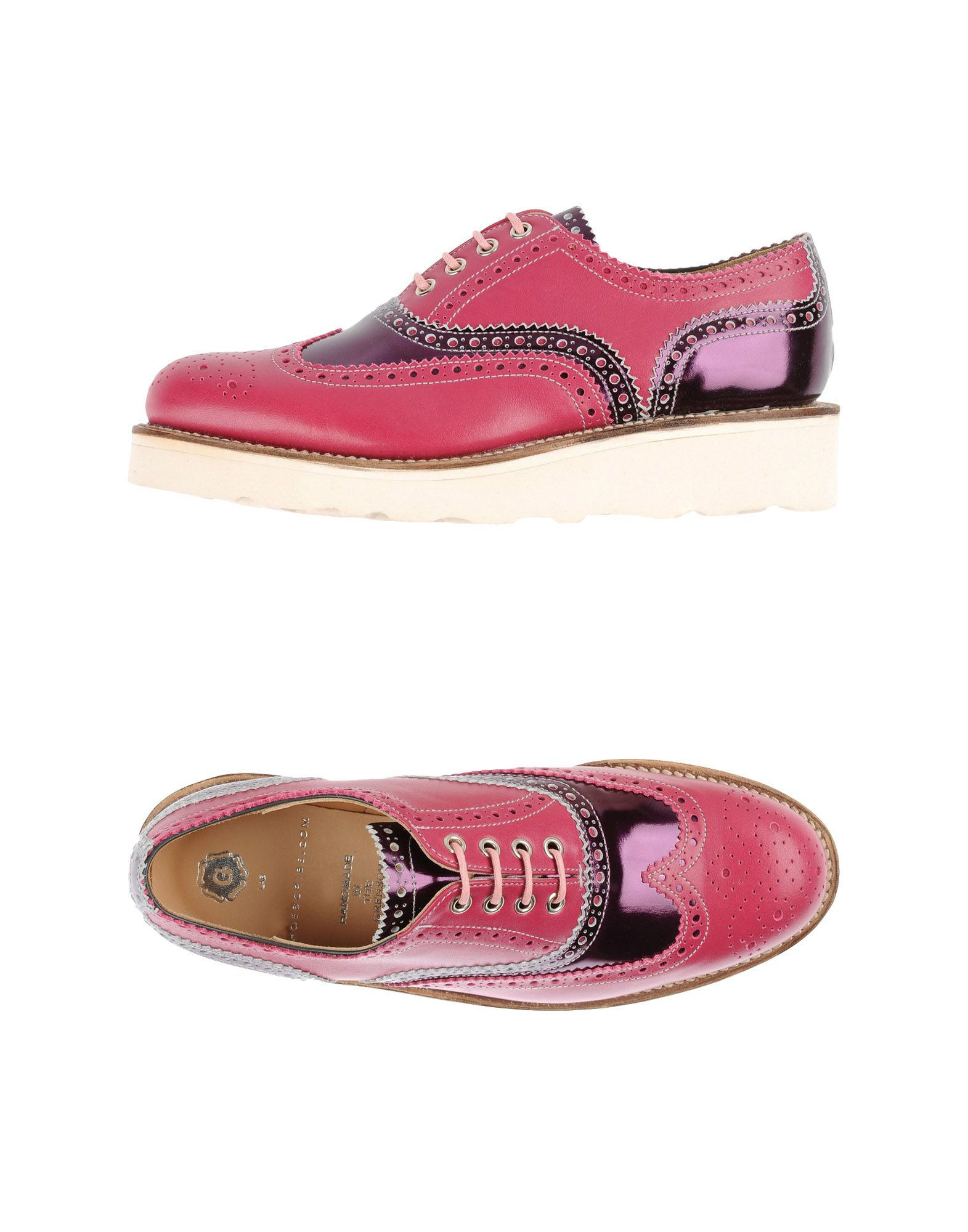 foot the coacher lace up shoes in pink lyst
