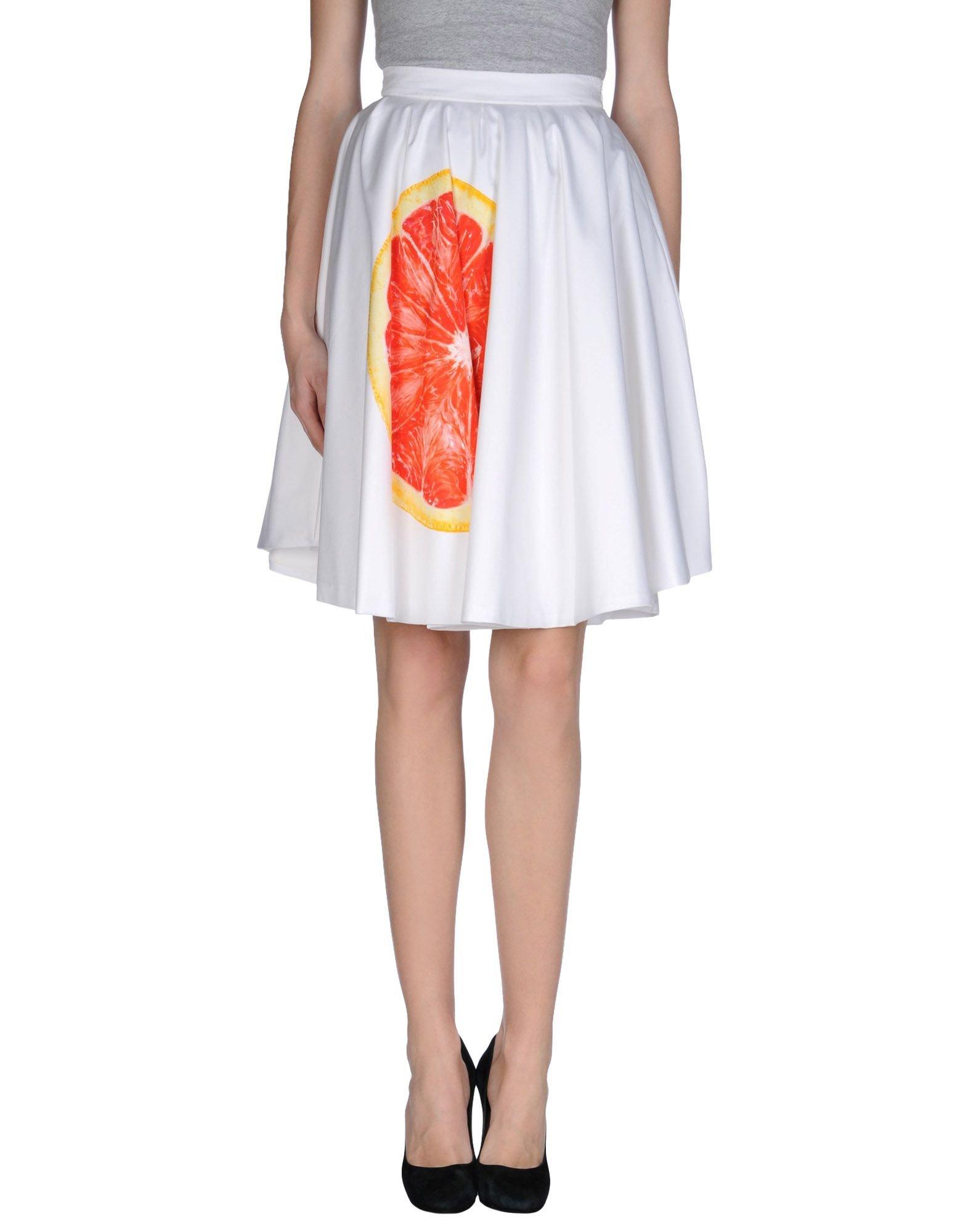 nhivuru knee length skirt in white lyst