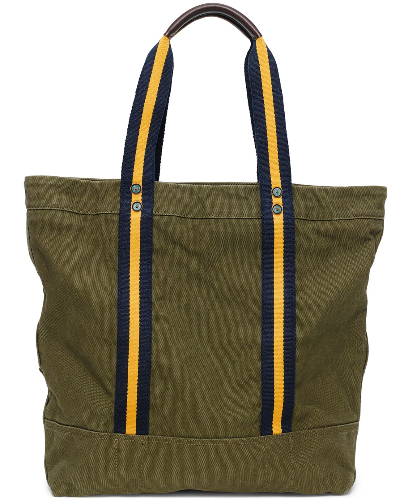 Lyst - Polo Ralph Lauren Big Pony Canvas Tote in Green for Men 41c6a07fb6