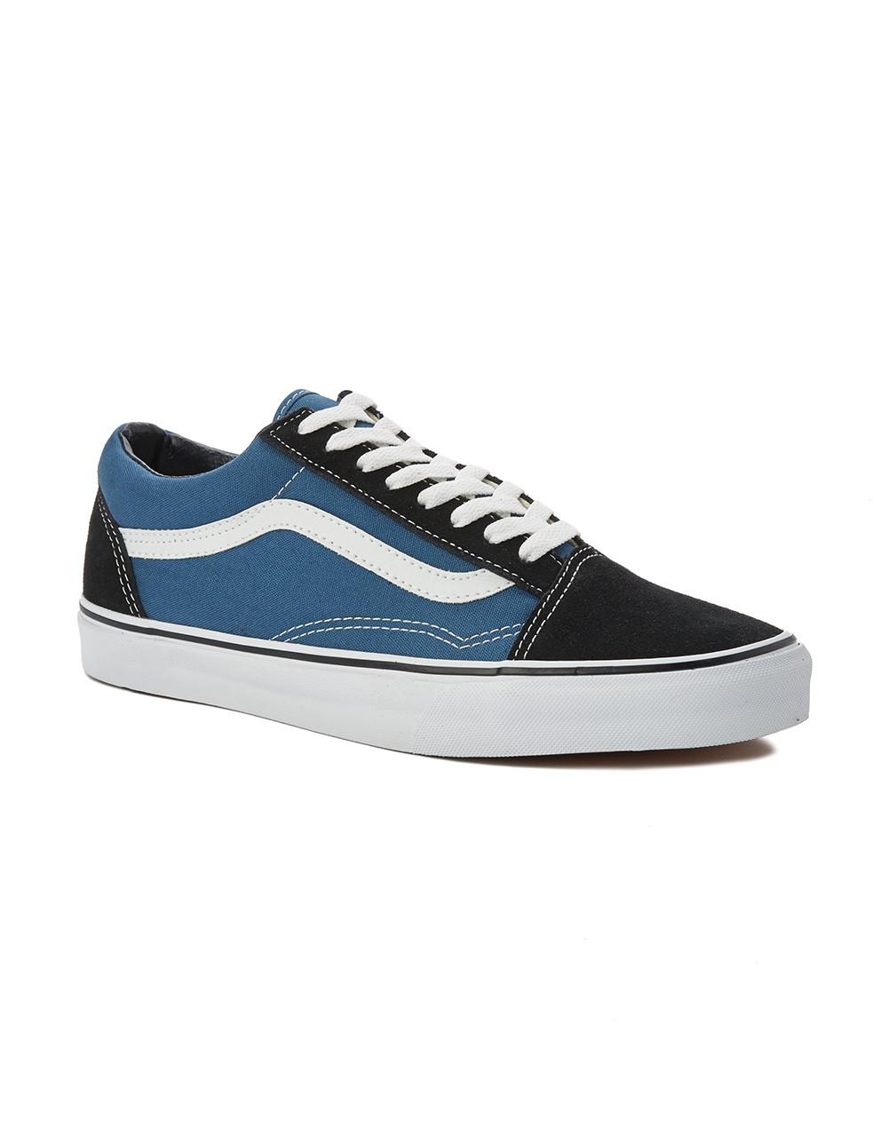lyst vans old skool round toe canvas sneakers in blue for men. Black Bedroom Furniture Sets. Home Design Ideas