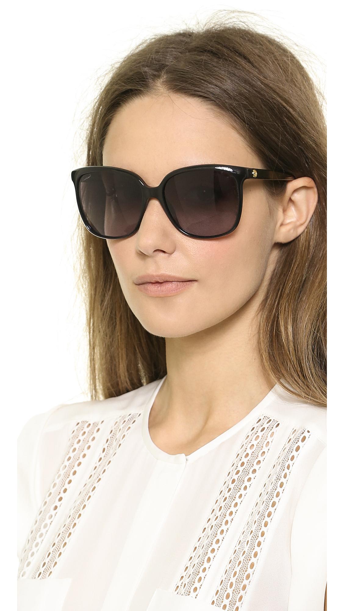 Gucci Square Gradient Sunglasses Violet Brown Gradient