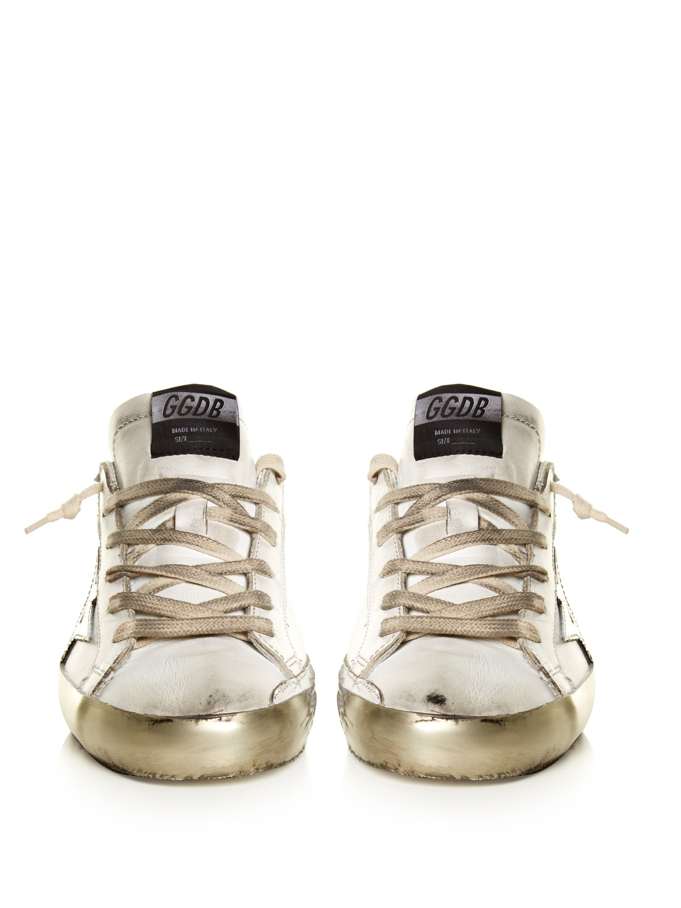 0baa956f4203 Lyst - Golden Goose Deluxe Brand Super Star Sparkle Low-top Leather ...