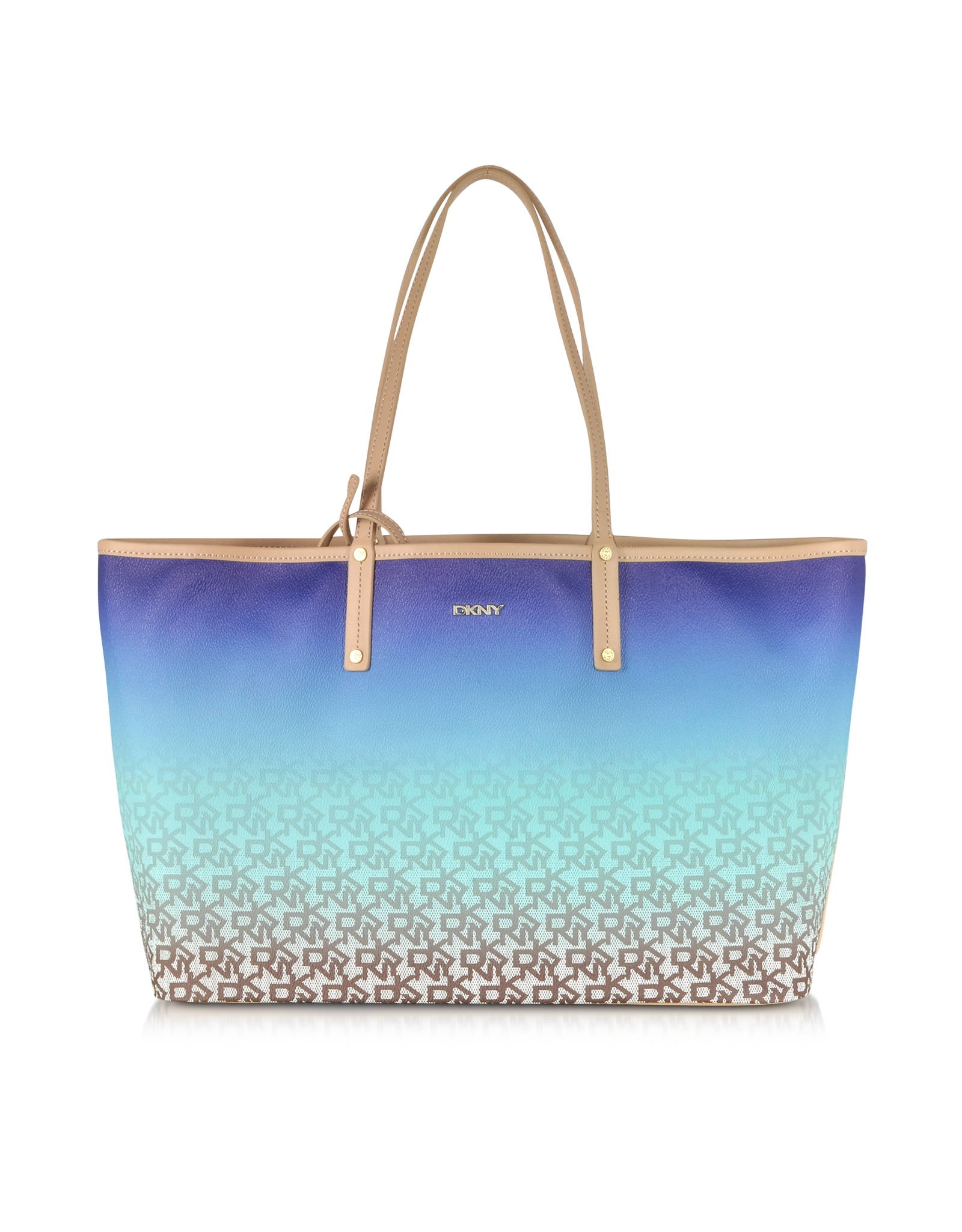 Dkny Heritage Coated Logo Blue Large Reversible Tote in Blue   Lyst