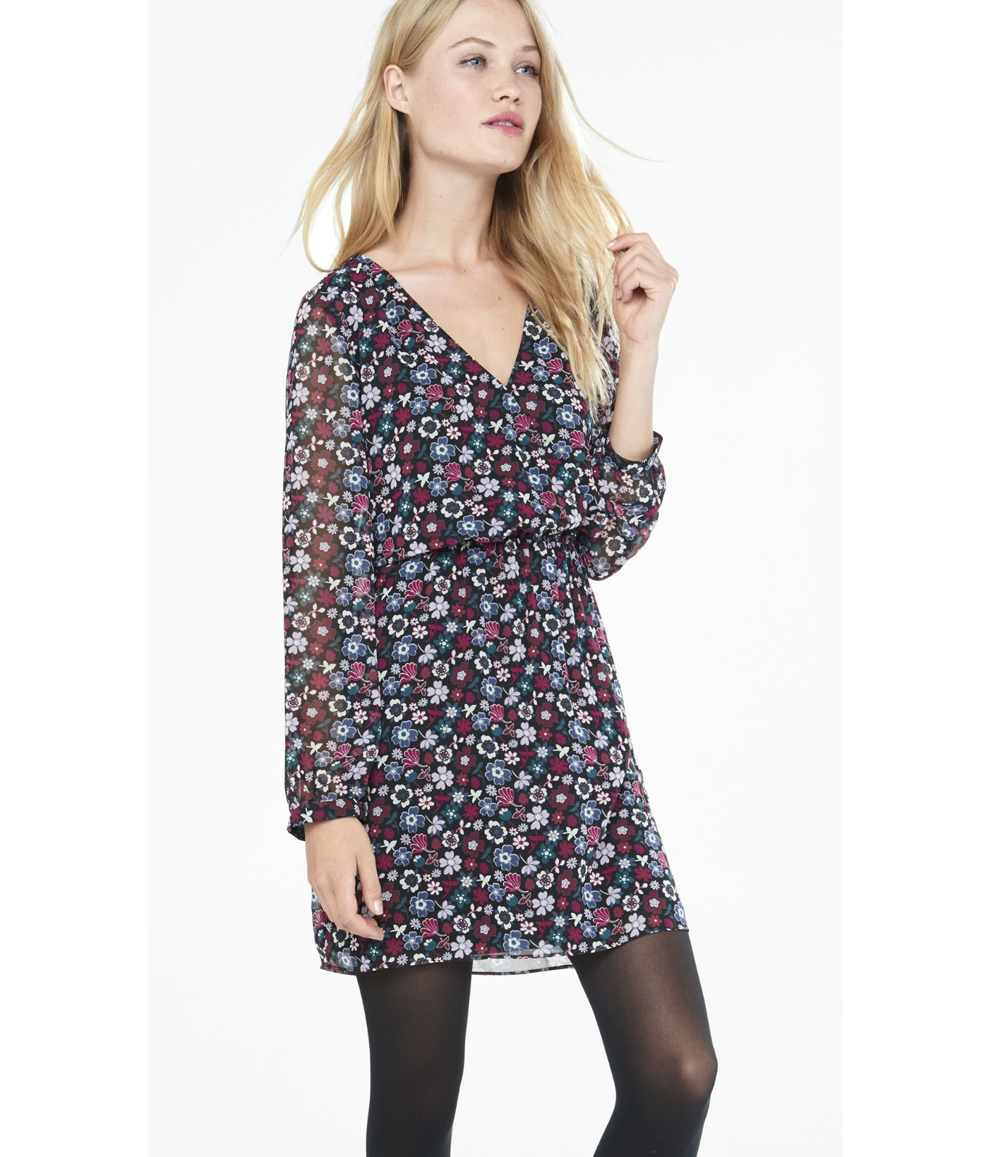Floral Long Sleeve Dresses for Juniors