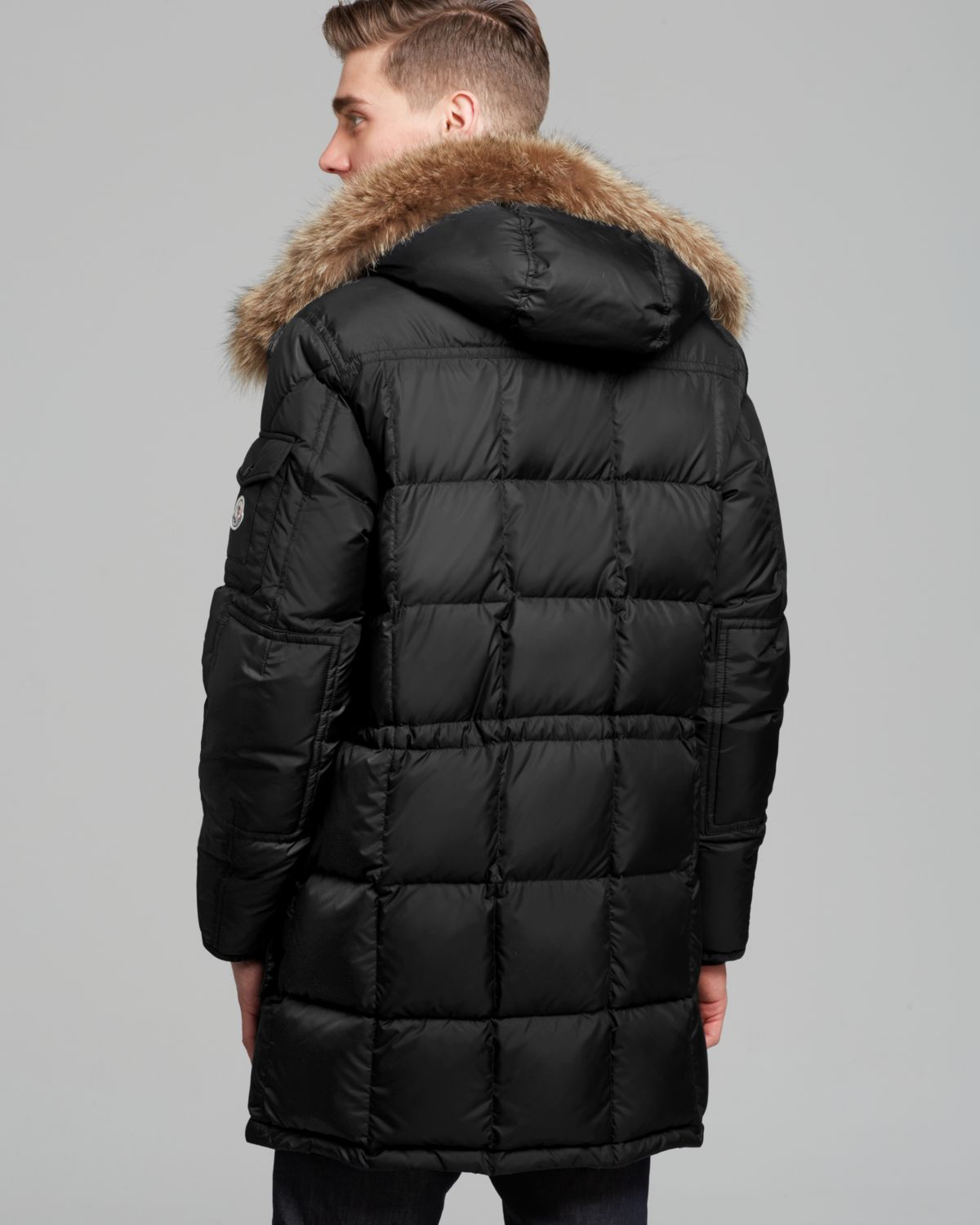 detailed look 92196 e821f australia moncler affton fur trimmed puffer coat year 43a67 ...