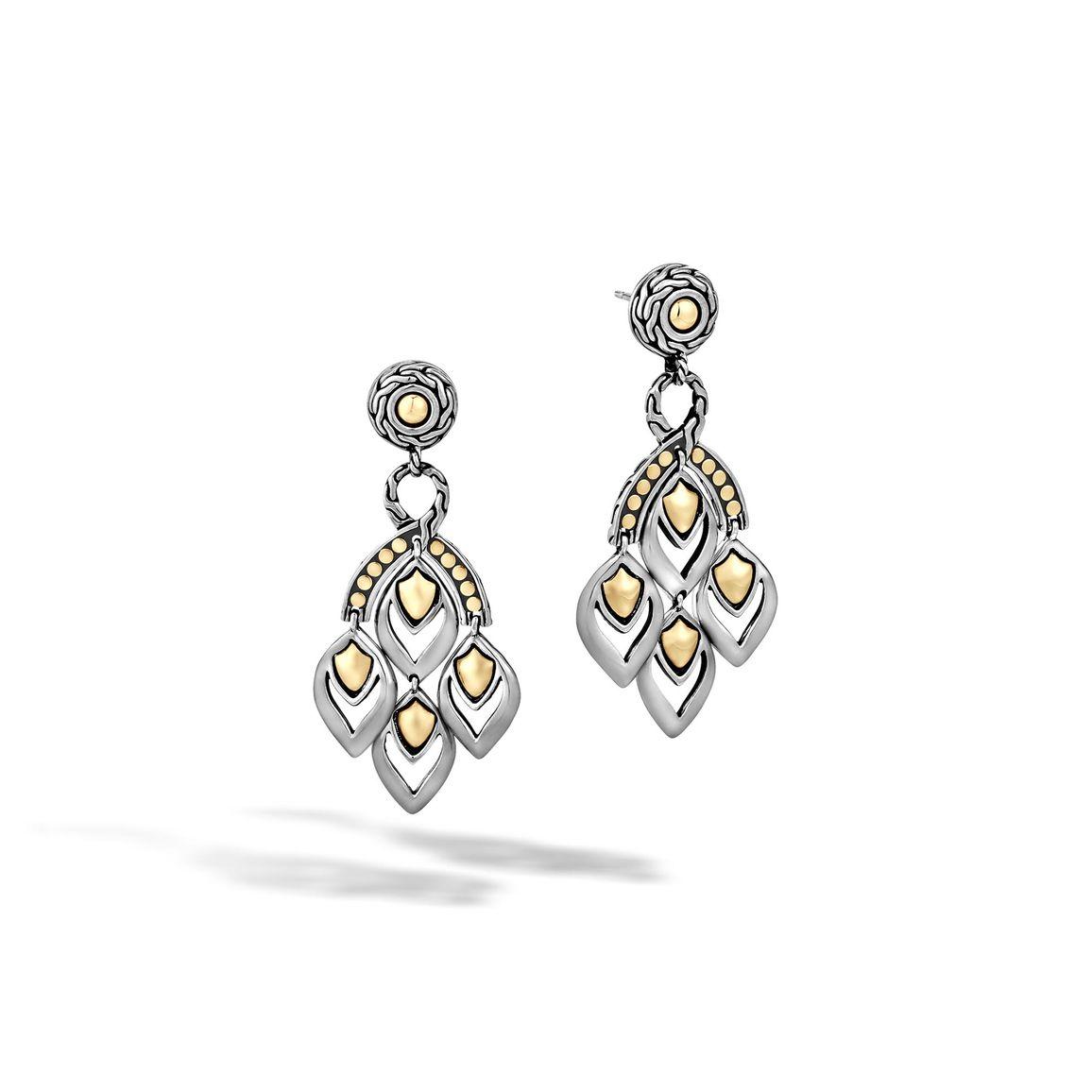 John hardy legends naga chandelier earrings in metallic lyst for John hardy jewelry earrings