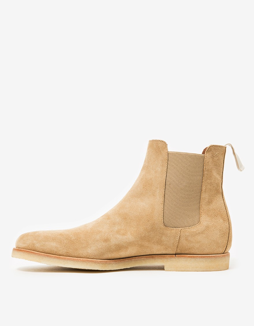 common projects suede chelsea boots in natural for men lyst. Black Bedroom Furniture Sets. Home Design Ideas
