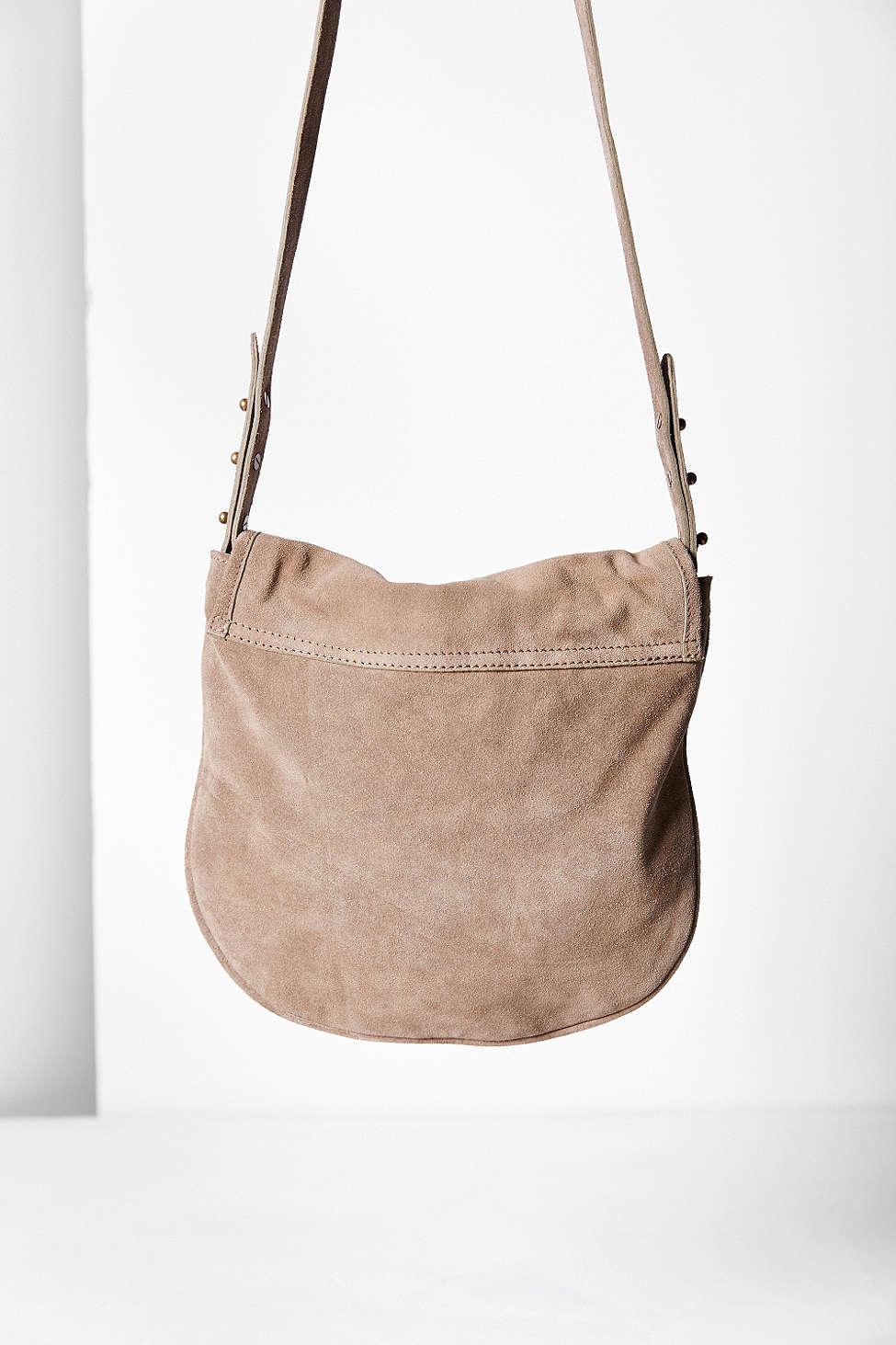 Lyst - BDG Minimalist Suede Crossbody Bag in Gray eea7b150e3d42