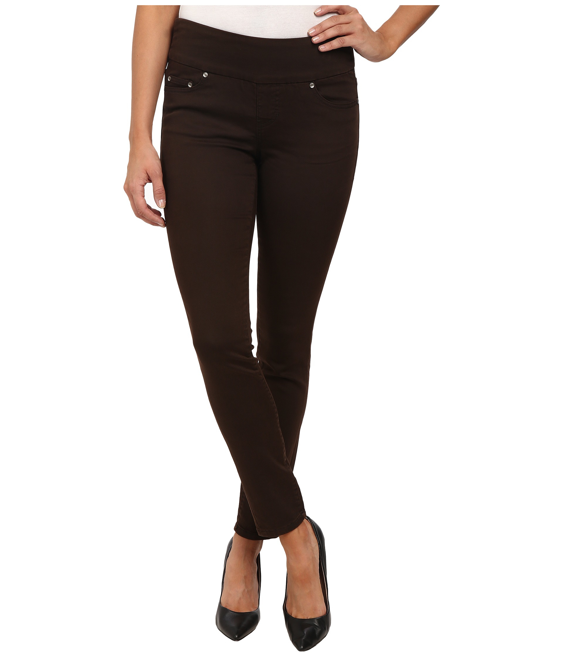 Jag jeans Nora Pull-on Skinny Knit Denim In Coffee in Brown | Lyst
