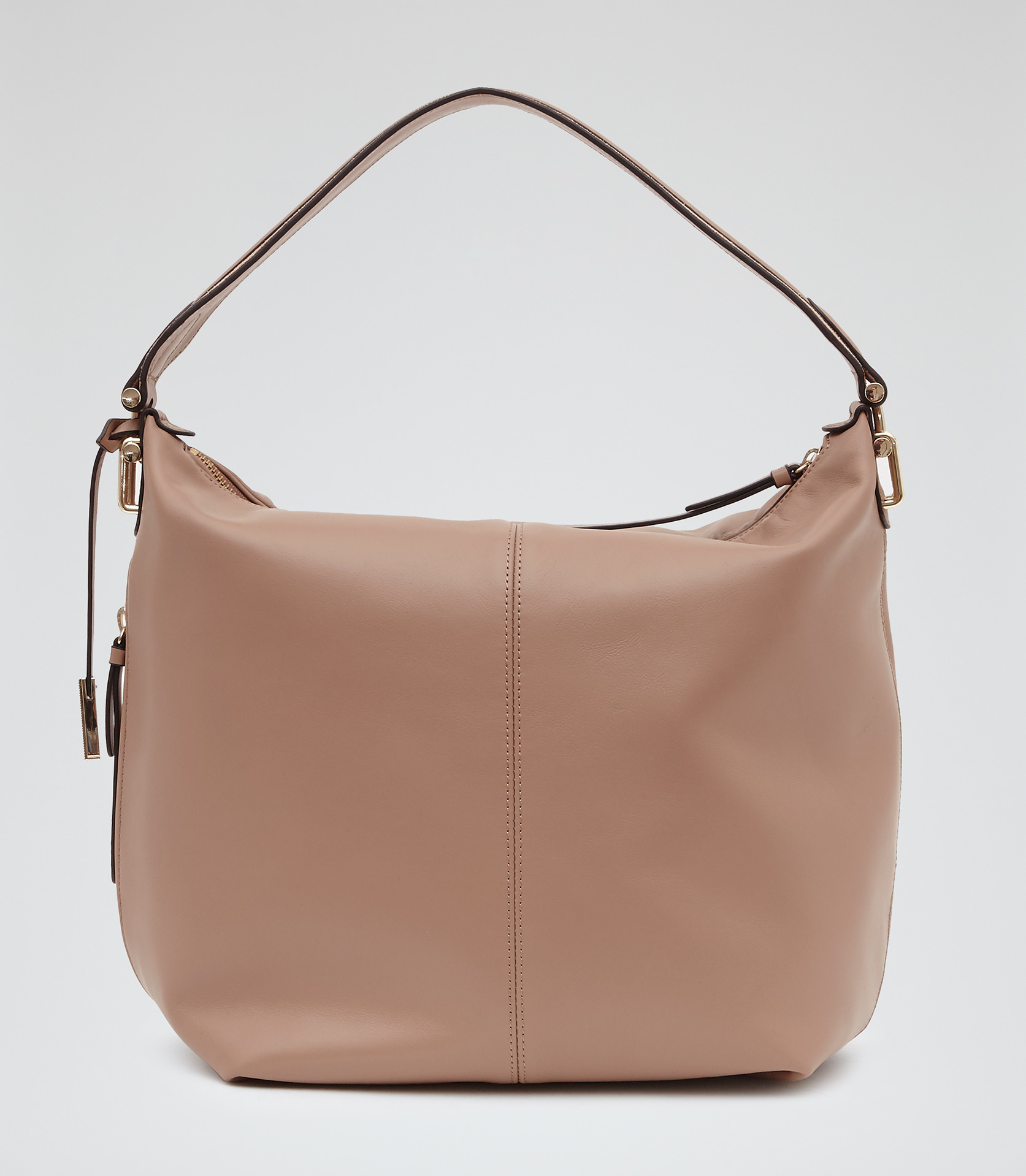 Reiss Knight Leather Shoulder Bag in Pink | Lyst