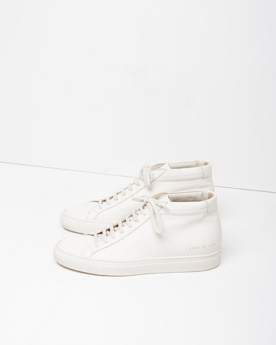 common projects original achilles mid sneaker in white for men lyst. Black Bedroom Furniture Sets. Home Design Ideas