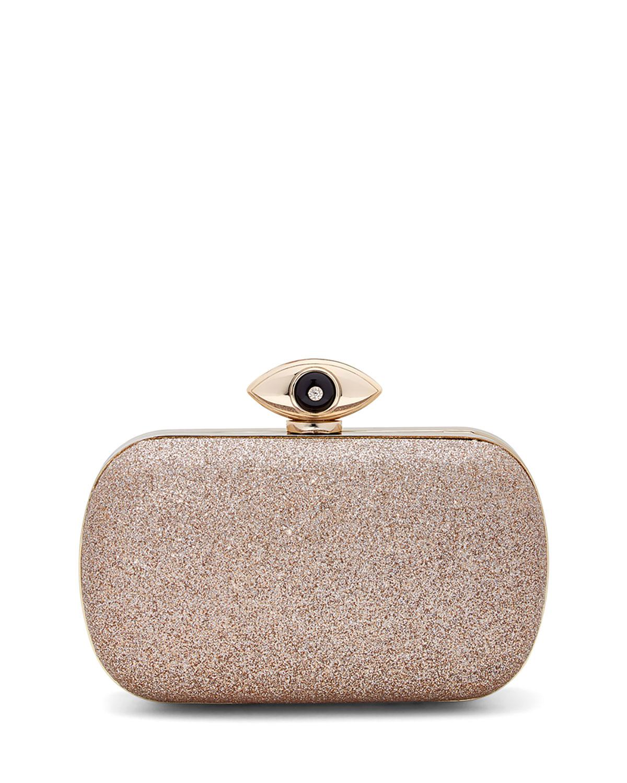 Diane Von Furstenberg Evil Eye Glitter Minaudiere Evening Clutch Bag ...