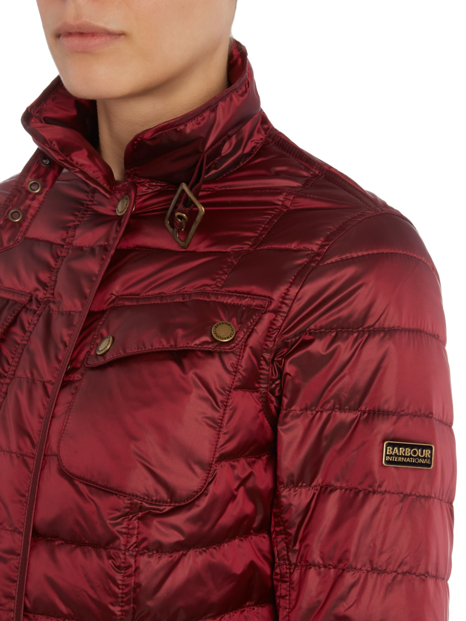 Lyst Barbour International Broton Quilted Jacket In Red