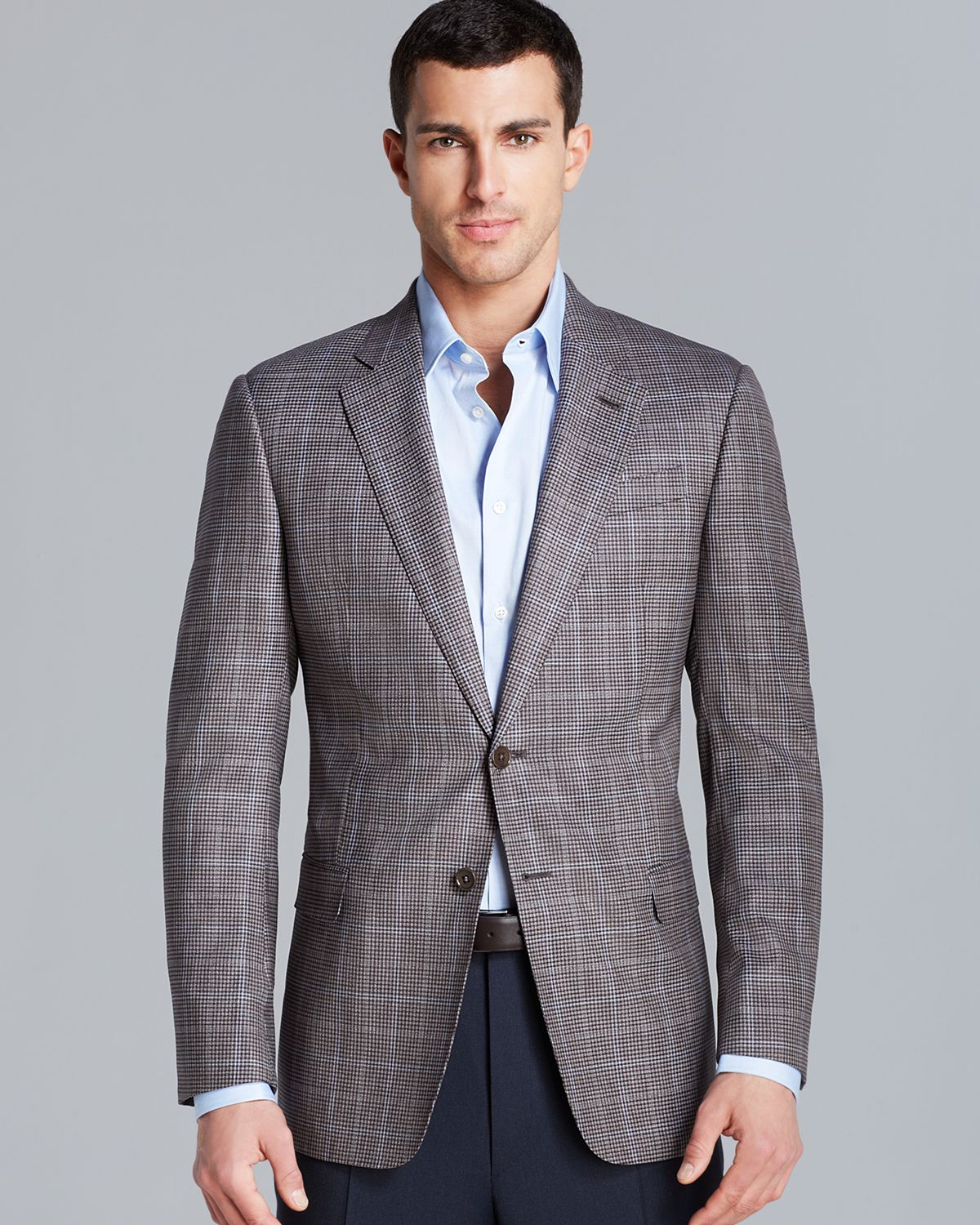 Armani Giorgio Houndstooth Check Overlay Sport Coat - Regular Fit ...