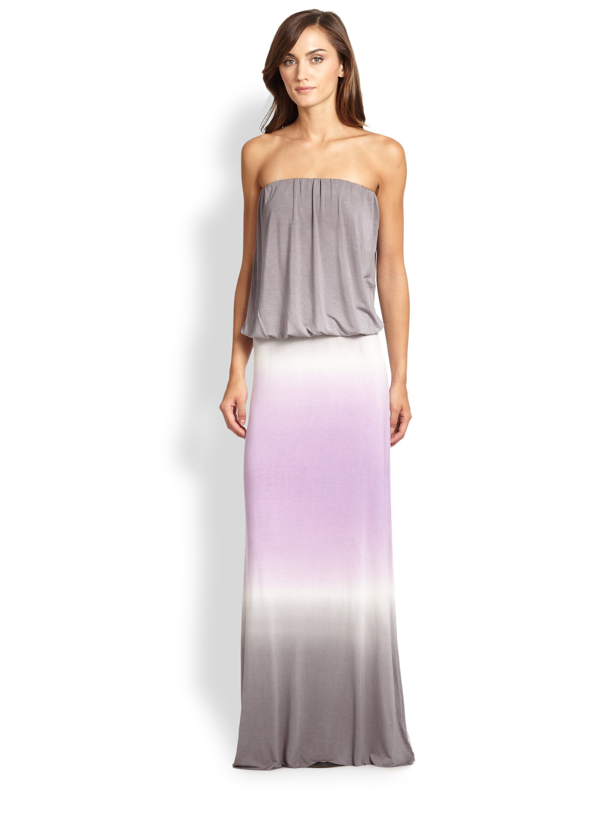 Young fabulous & broke Strapless Ombre Jersey Maxi Dress in Purple ...