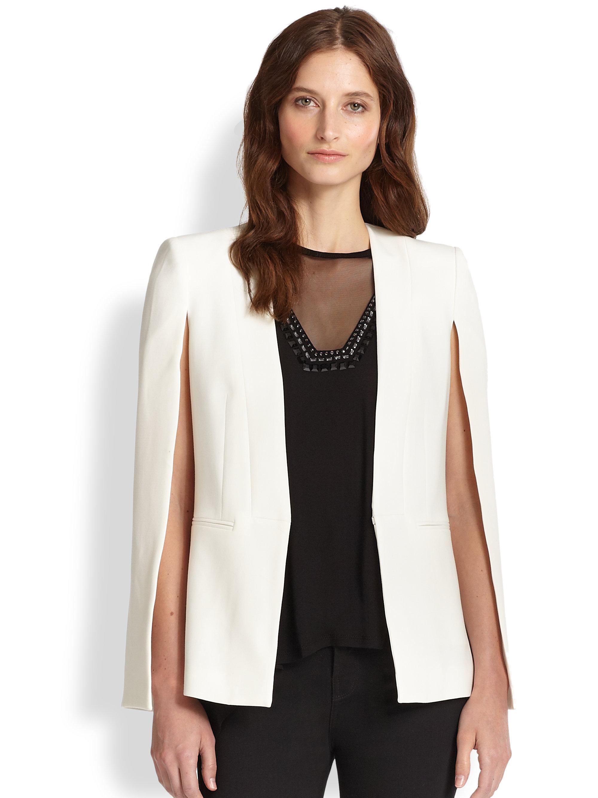 [BAL DE CLOTURE 2019] A NIGHT TO REMEMBER Bcbgmaxazria-white-cape-blazer-product-1-25630158-2-180500831-normal