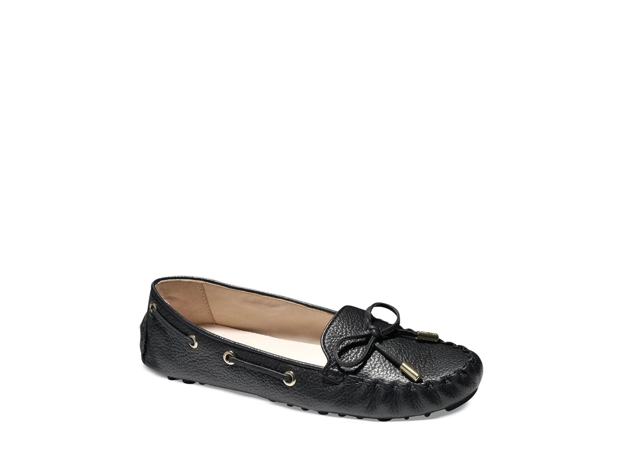 8d87574501b Lyst - Cole Haan Driving Moccasin Flats - Cary in Black